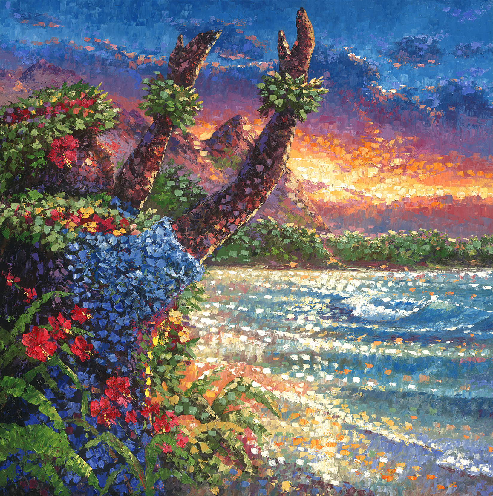 """Bali Hai Hula"" 36x36"