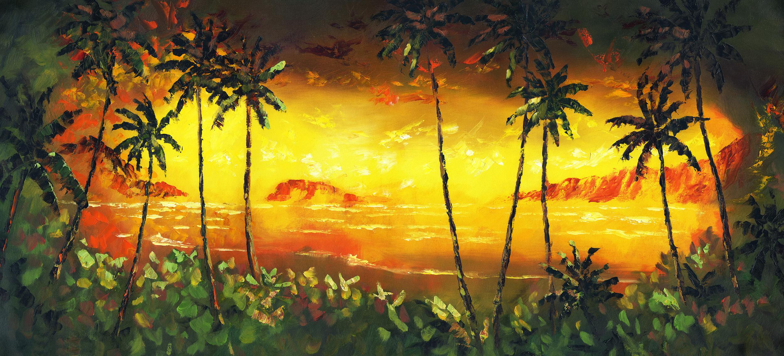 """""""Sunset Glow"""" 18x40"""