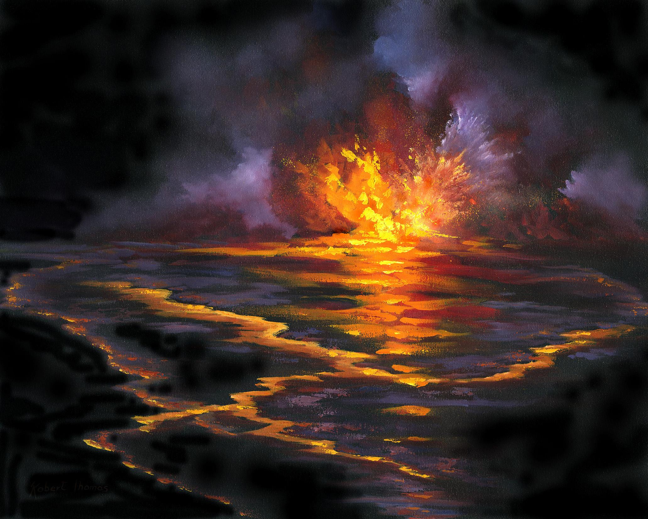 """Volcano Eruption"" 24x30"
