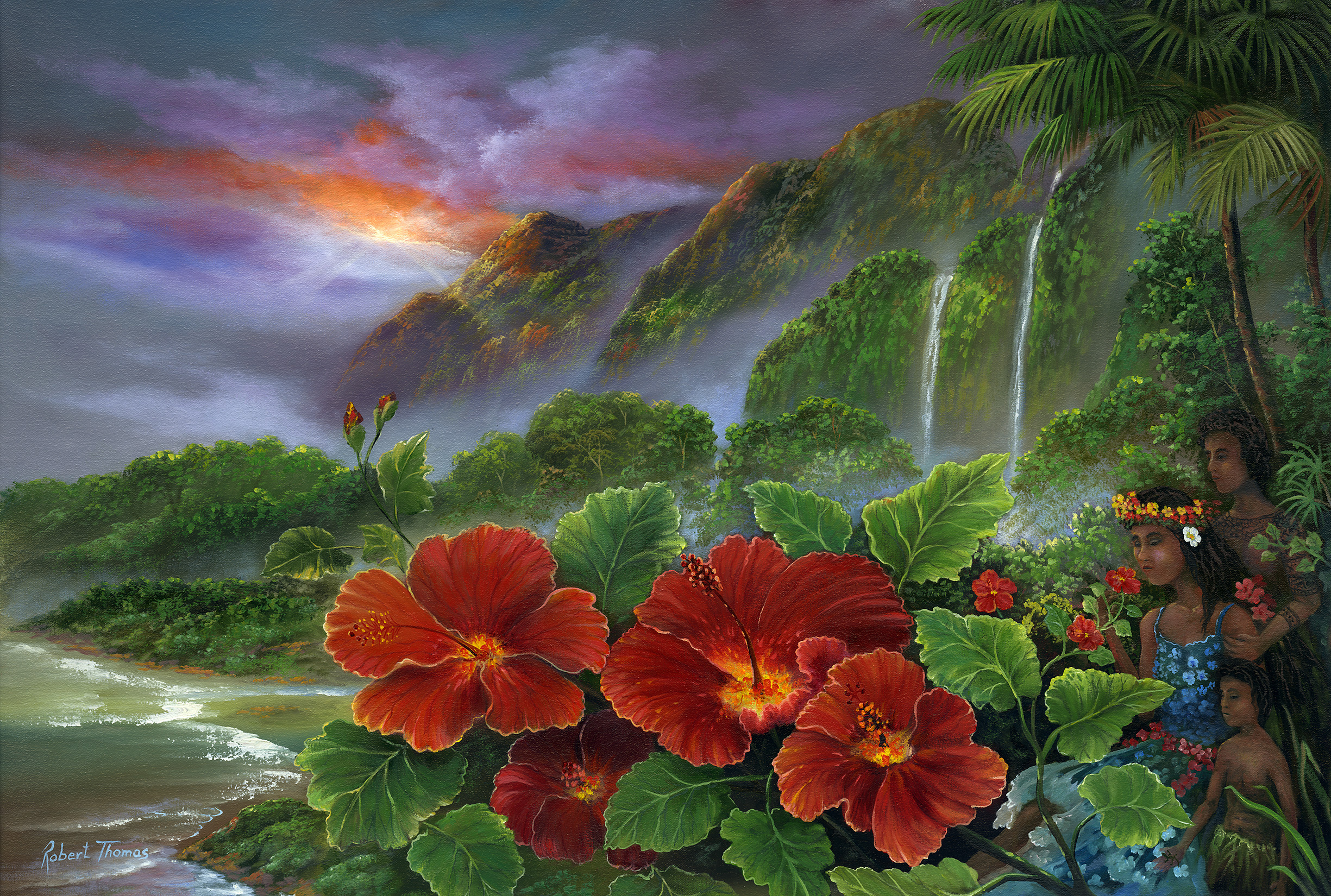 """""""Hawaiian Ohana"""" 20x30"""