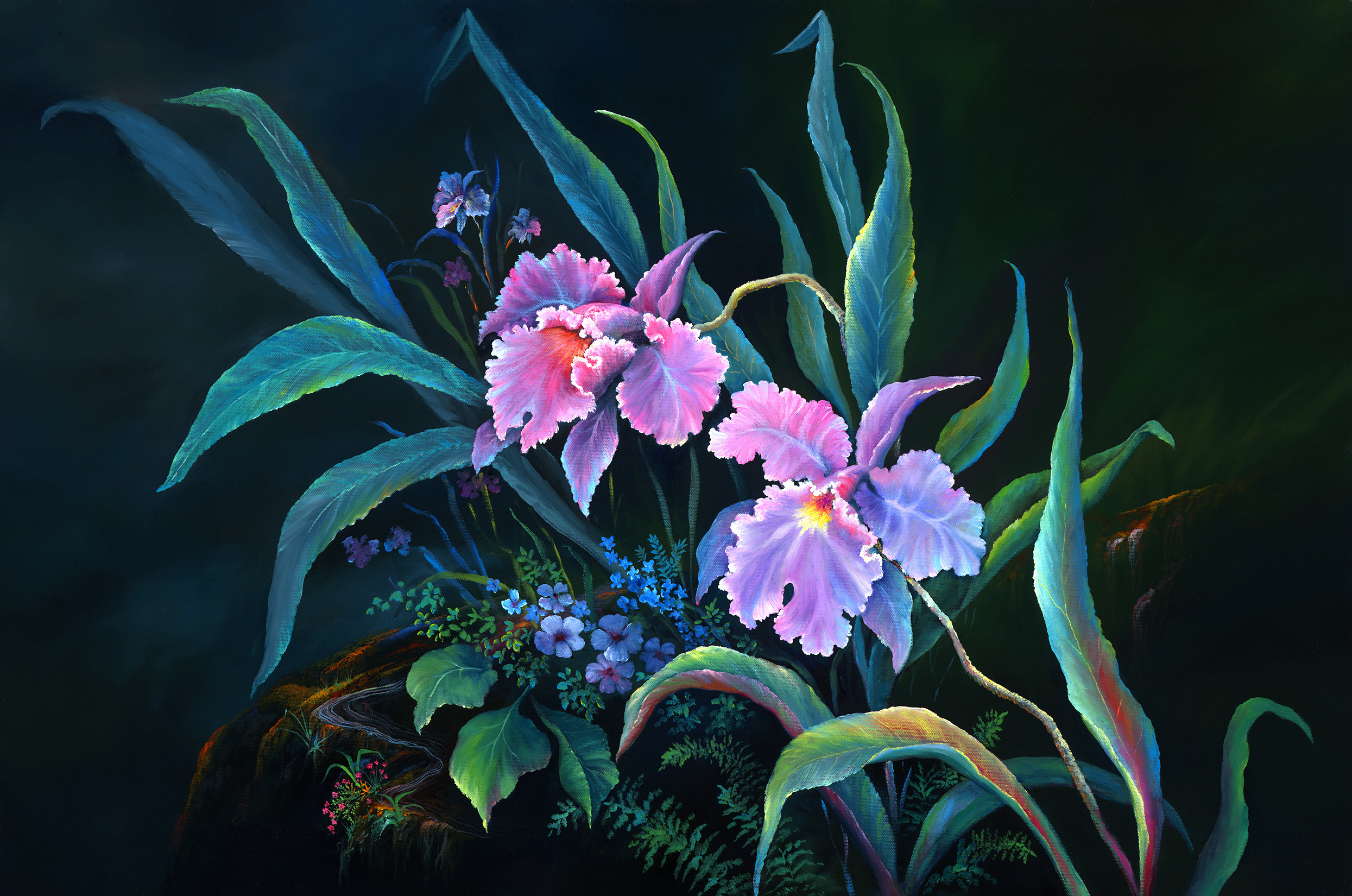 """""""Orchid Passion"""" 24x36"""