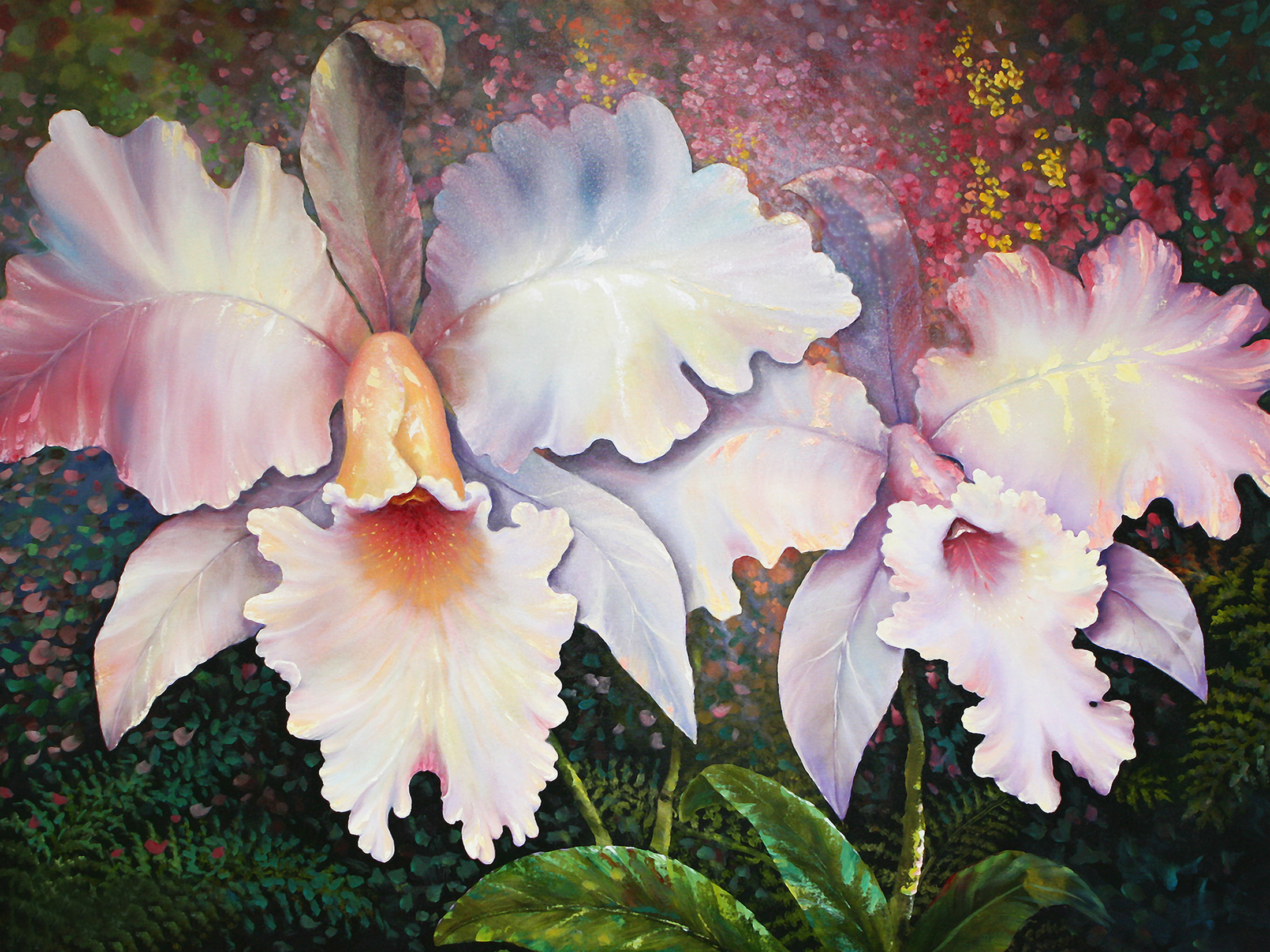 """""""White Orchid"""" 30x40"""