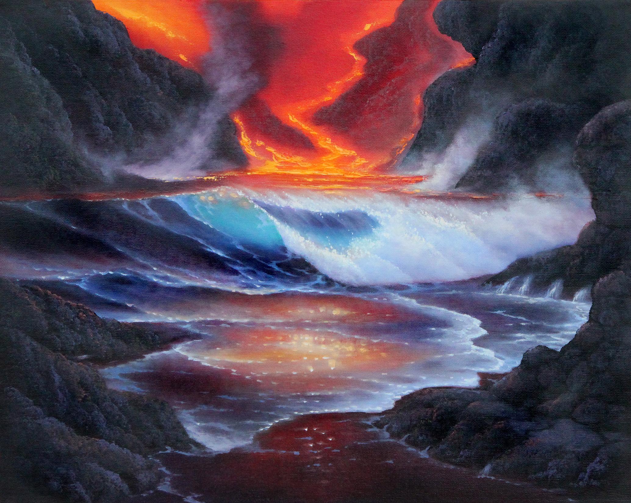 Volcanoes By Robert Thomas Ernest Young Studio