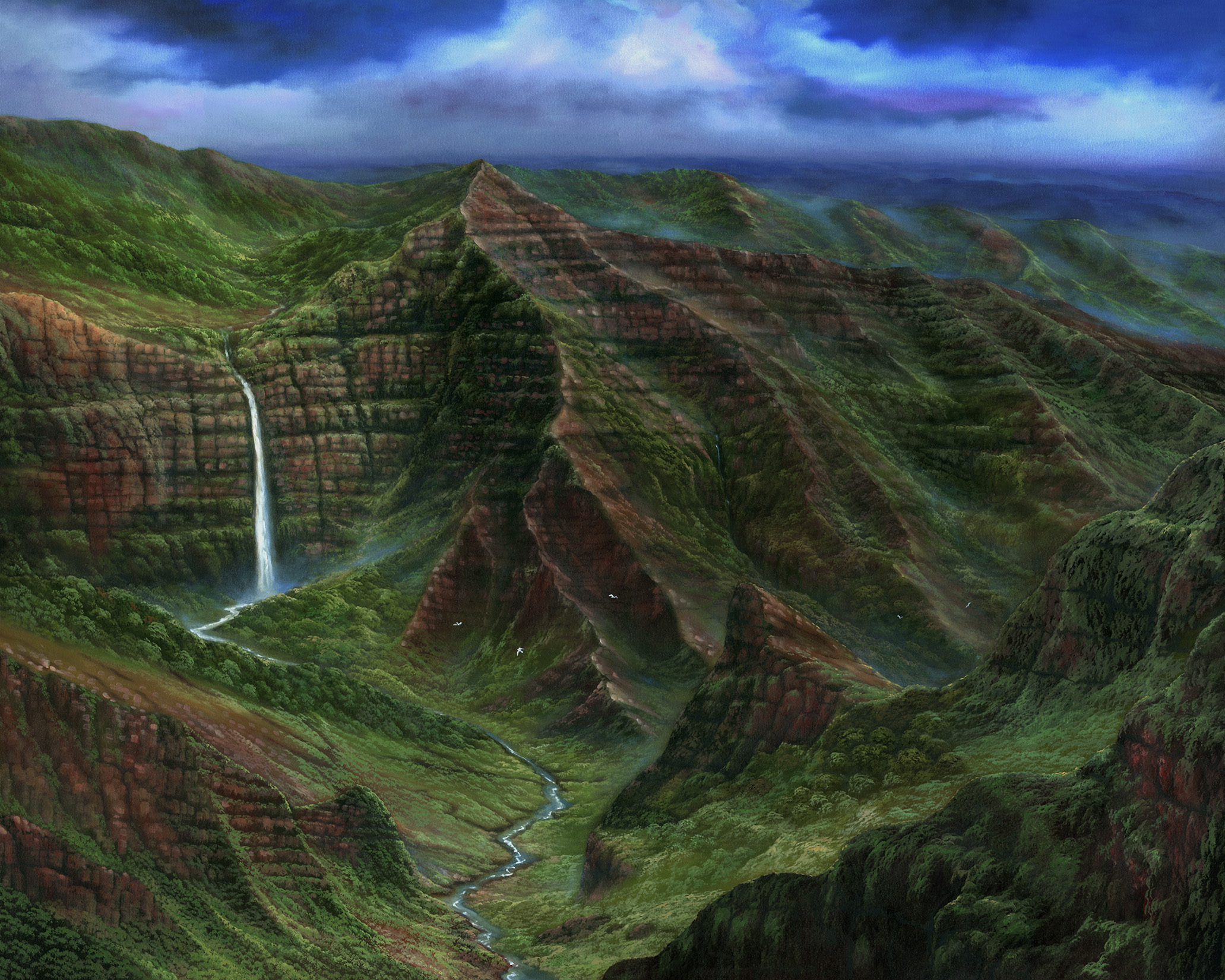 """Waipoo Falls"" 36x48"