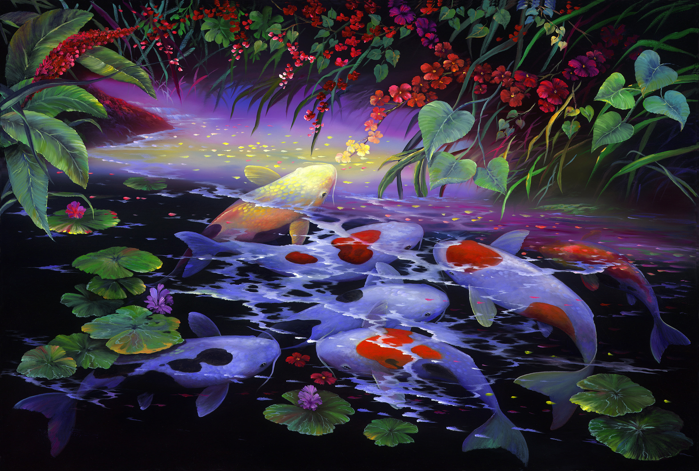 """Colors Of Koi"" 24x36"