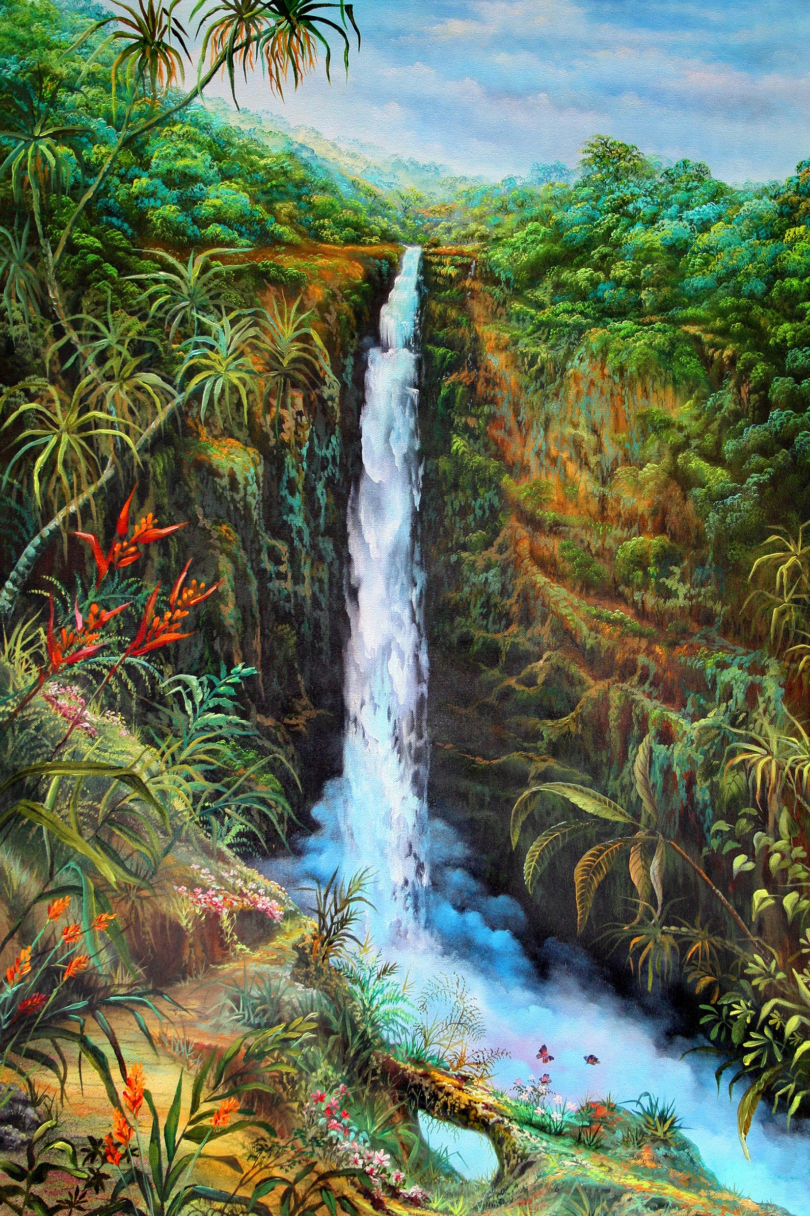 """""""Akaka Falls"""" 24x36"""