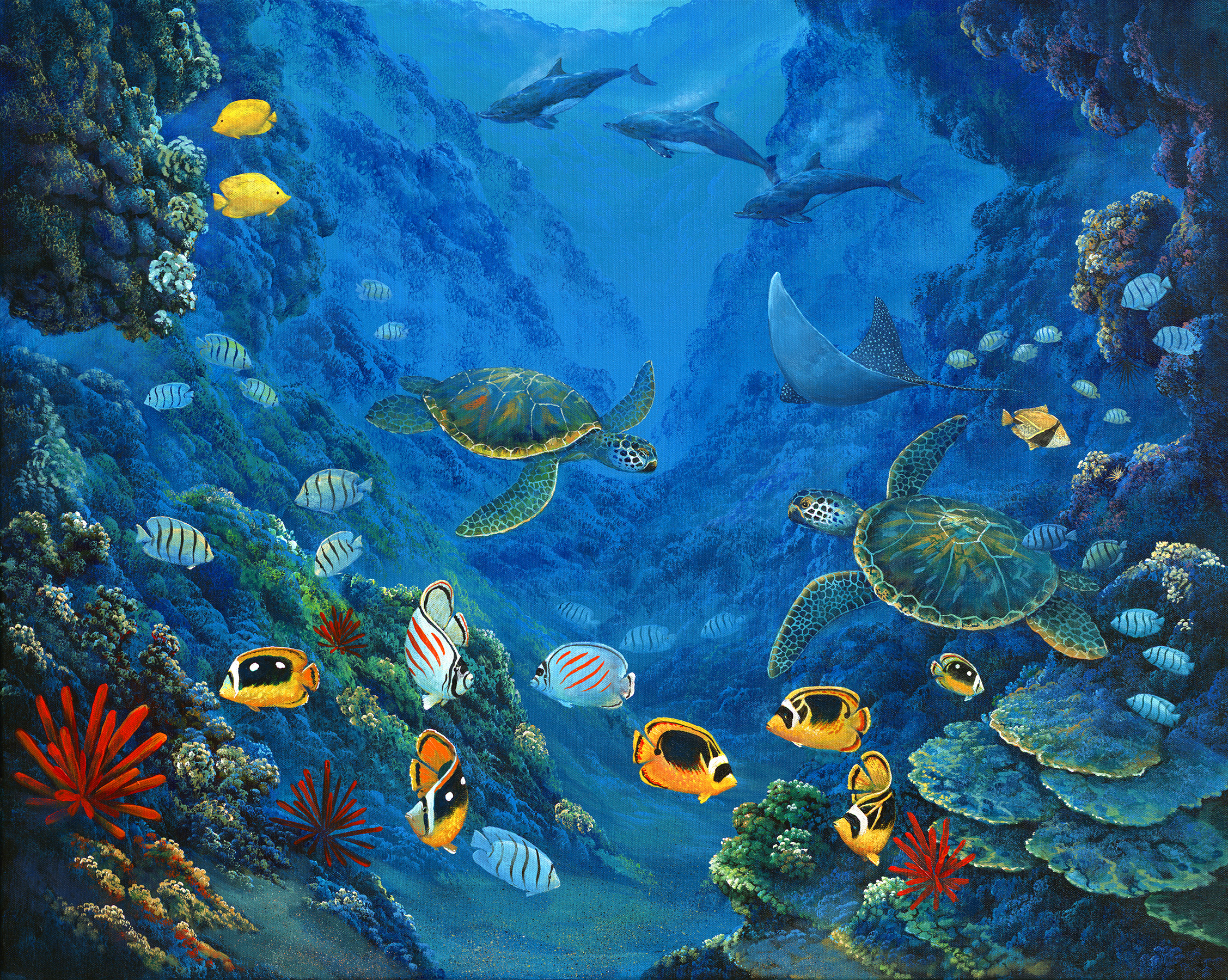 """""""Reef Party"""" 24x30"""