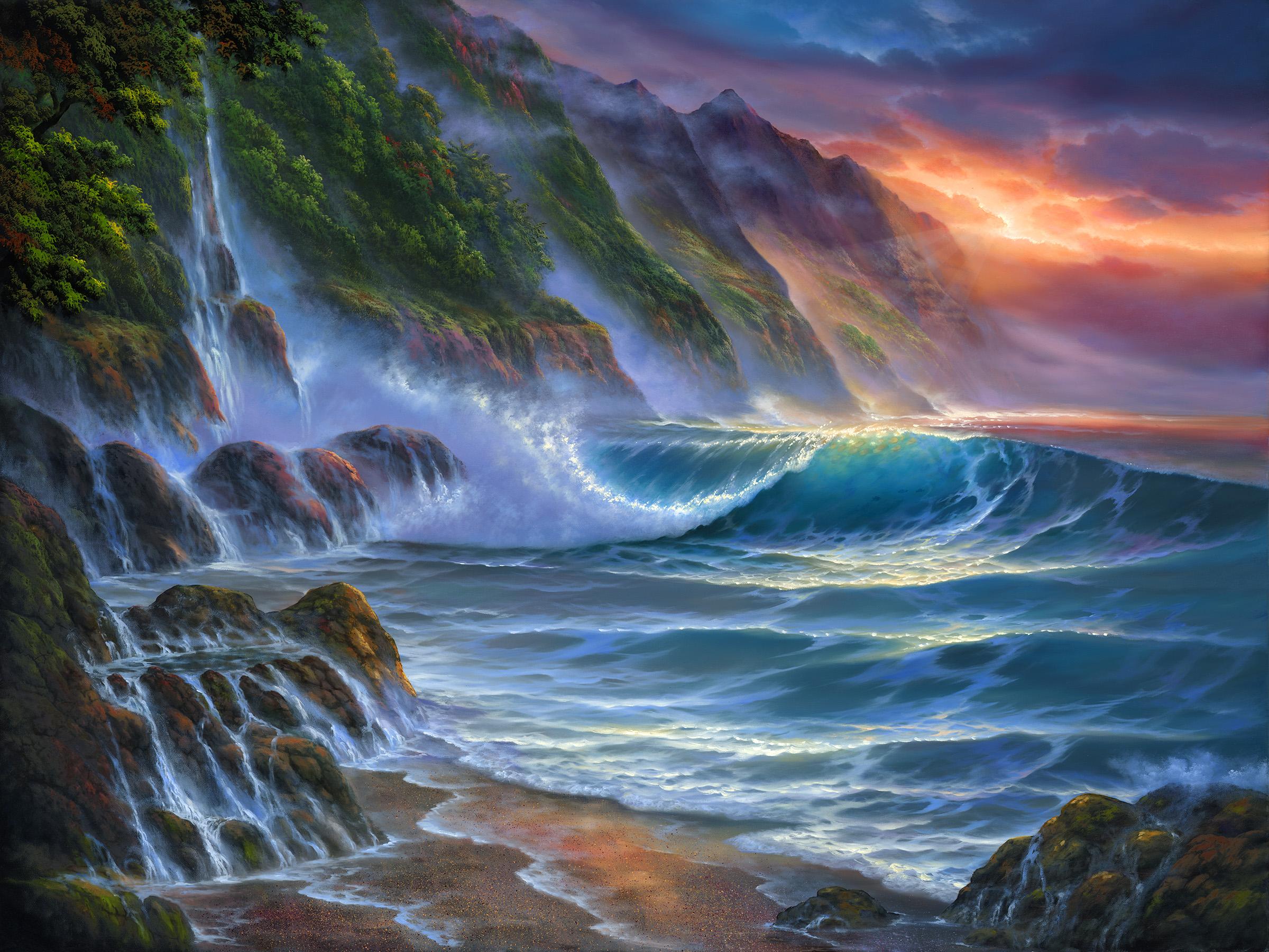 """""""Na Pali Coast II"""" 30x40"""