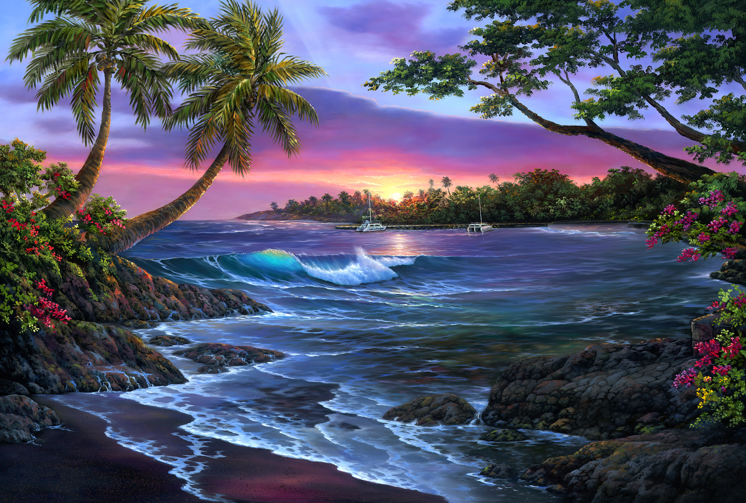 """Old Kona Bay"" 24x36"