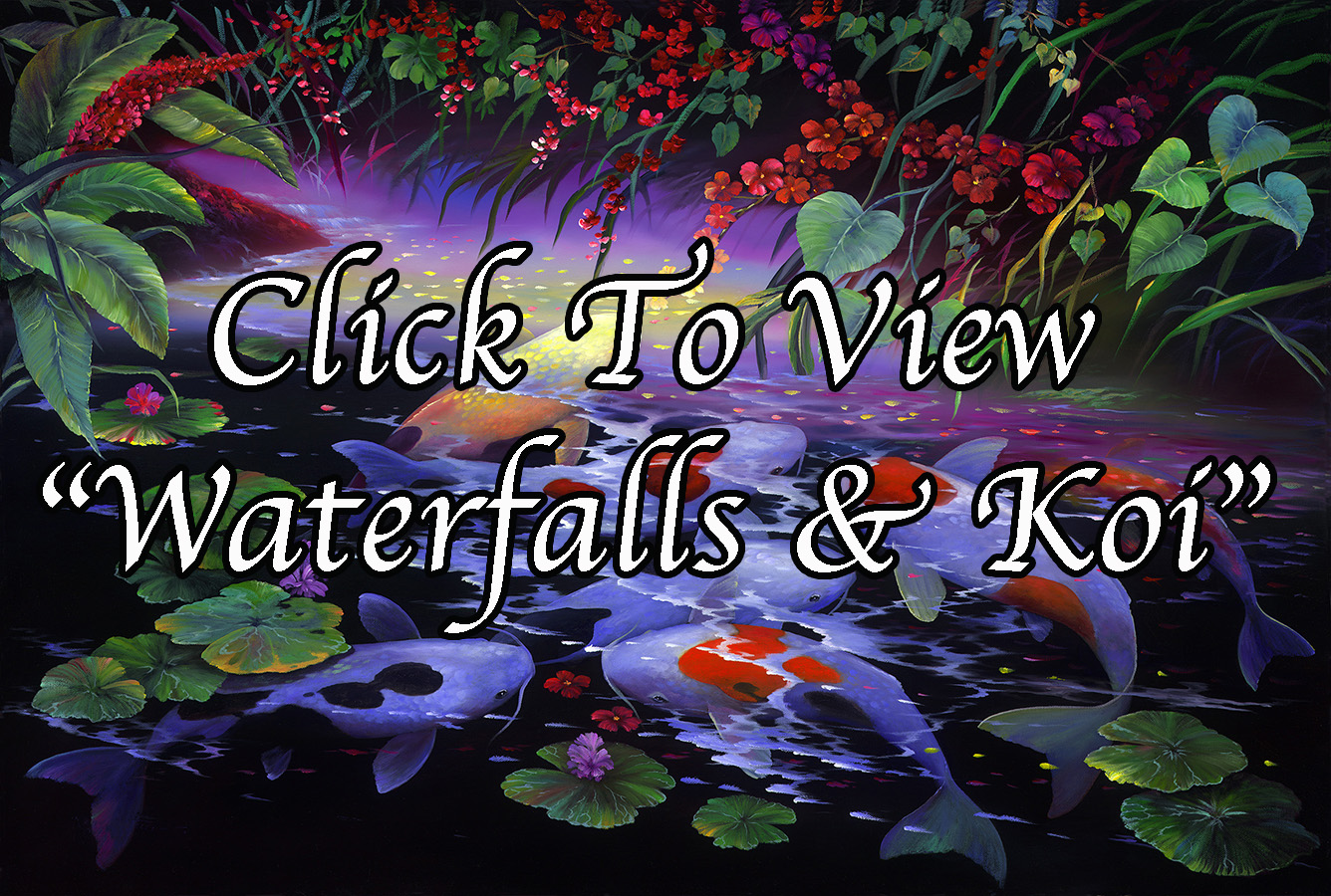 """Waterfalls & Koi"""