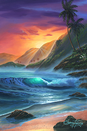 """Hamakua Sunrise"" 24x36"