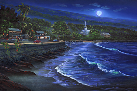 """Kona At Night"" 24x36"