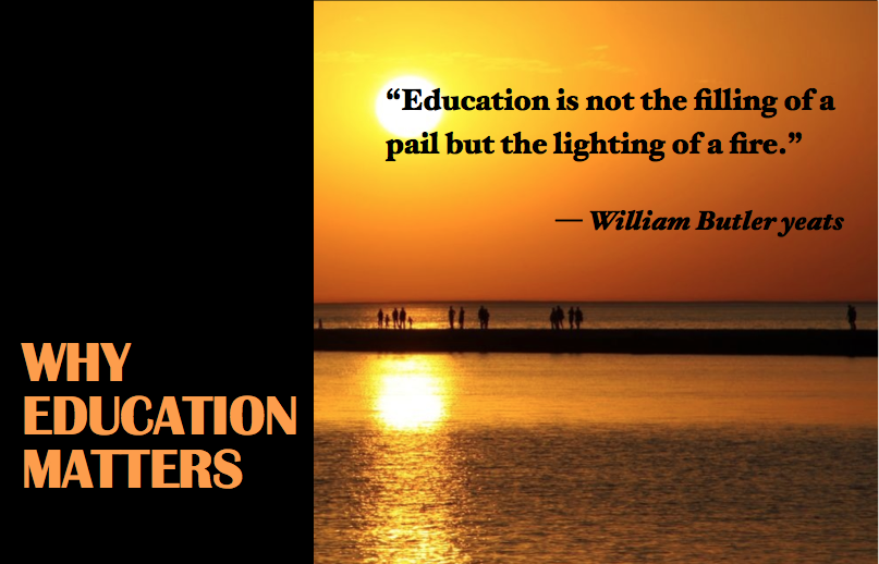 Postcard from Why Education Matters