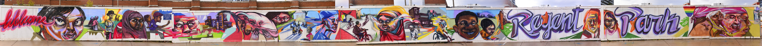 The full Regent Park mural. Not sure how the site is going to bastardize it when you click...