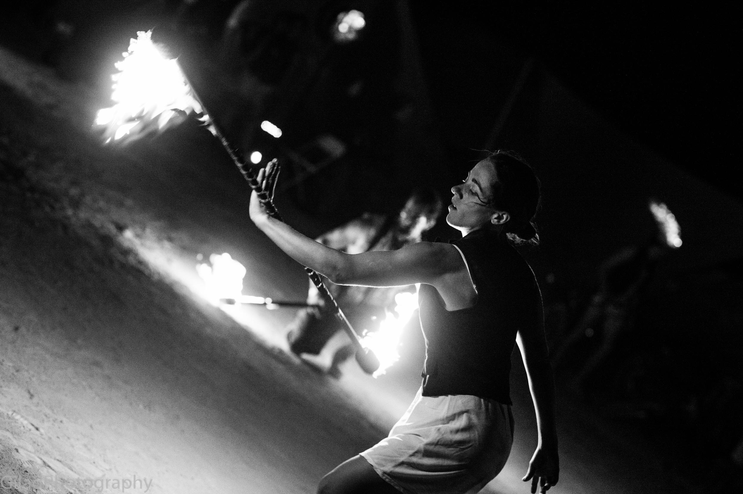 Fire Spinning at Burning Man