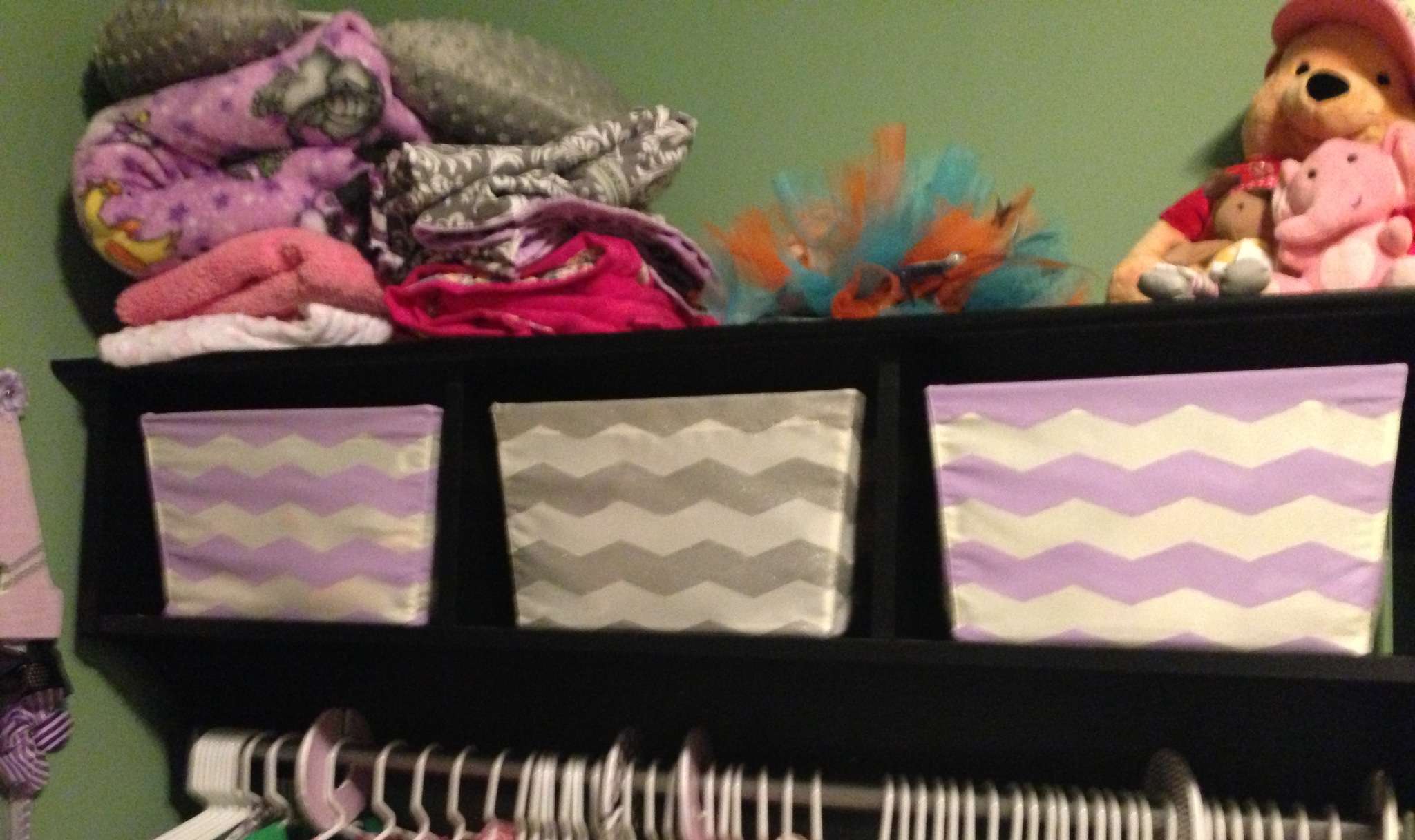 Painted these storage bins