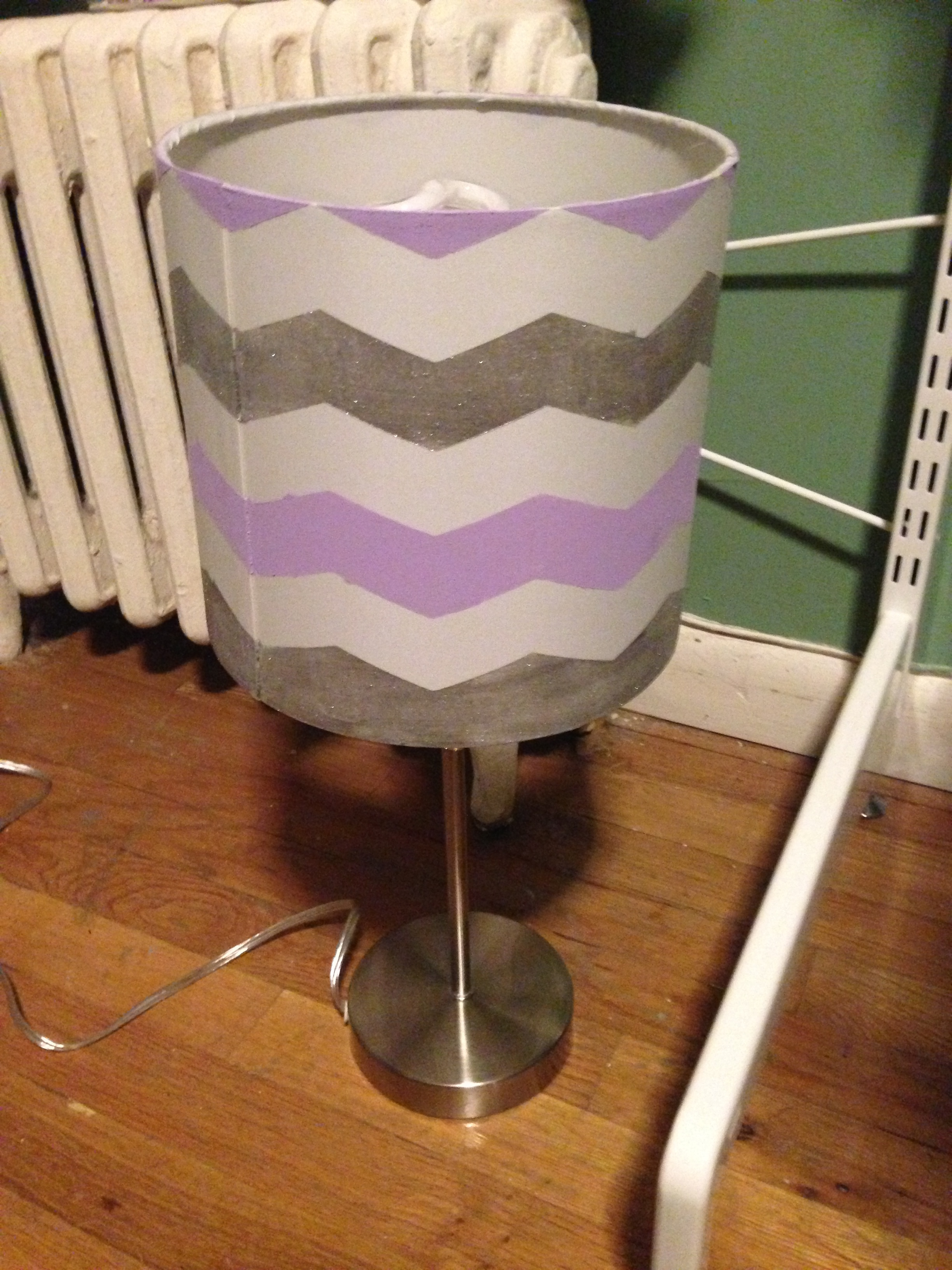 And painted her lamp