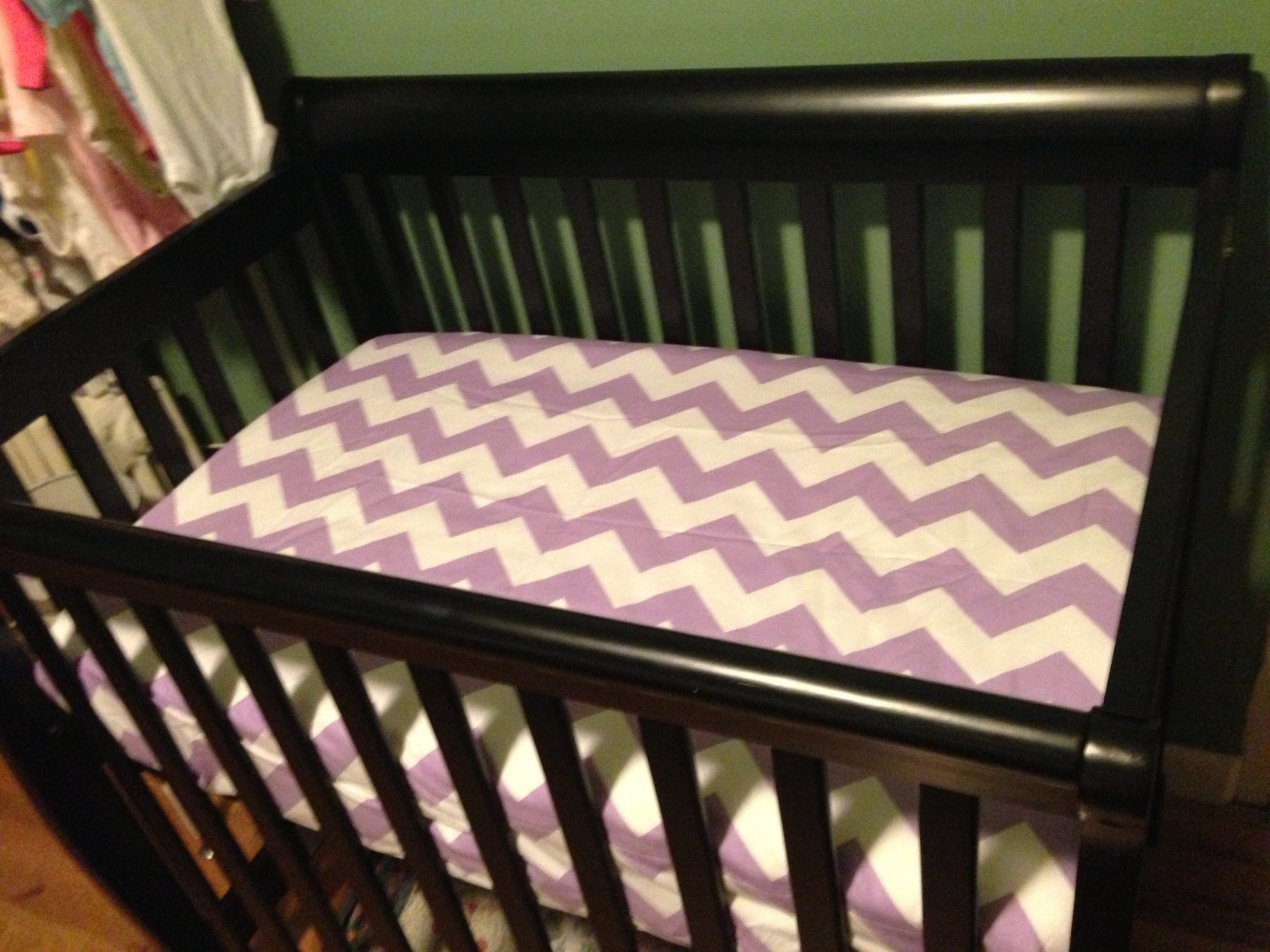 This isn't one of my crafts- but we got her crib put together!