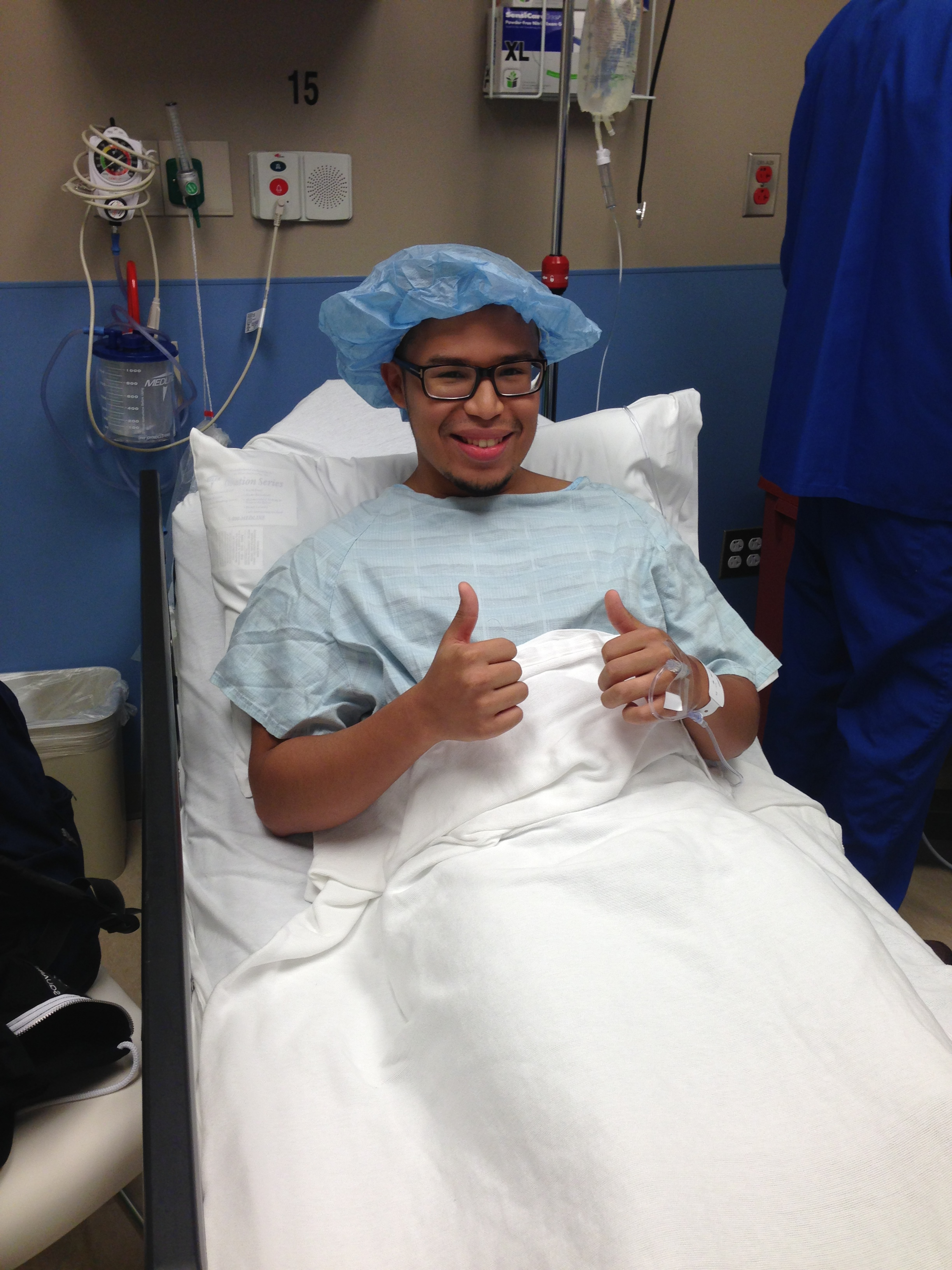 Ron getting ready for surgery