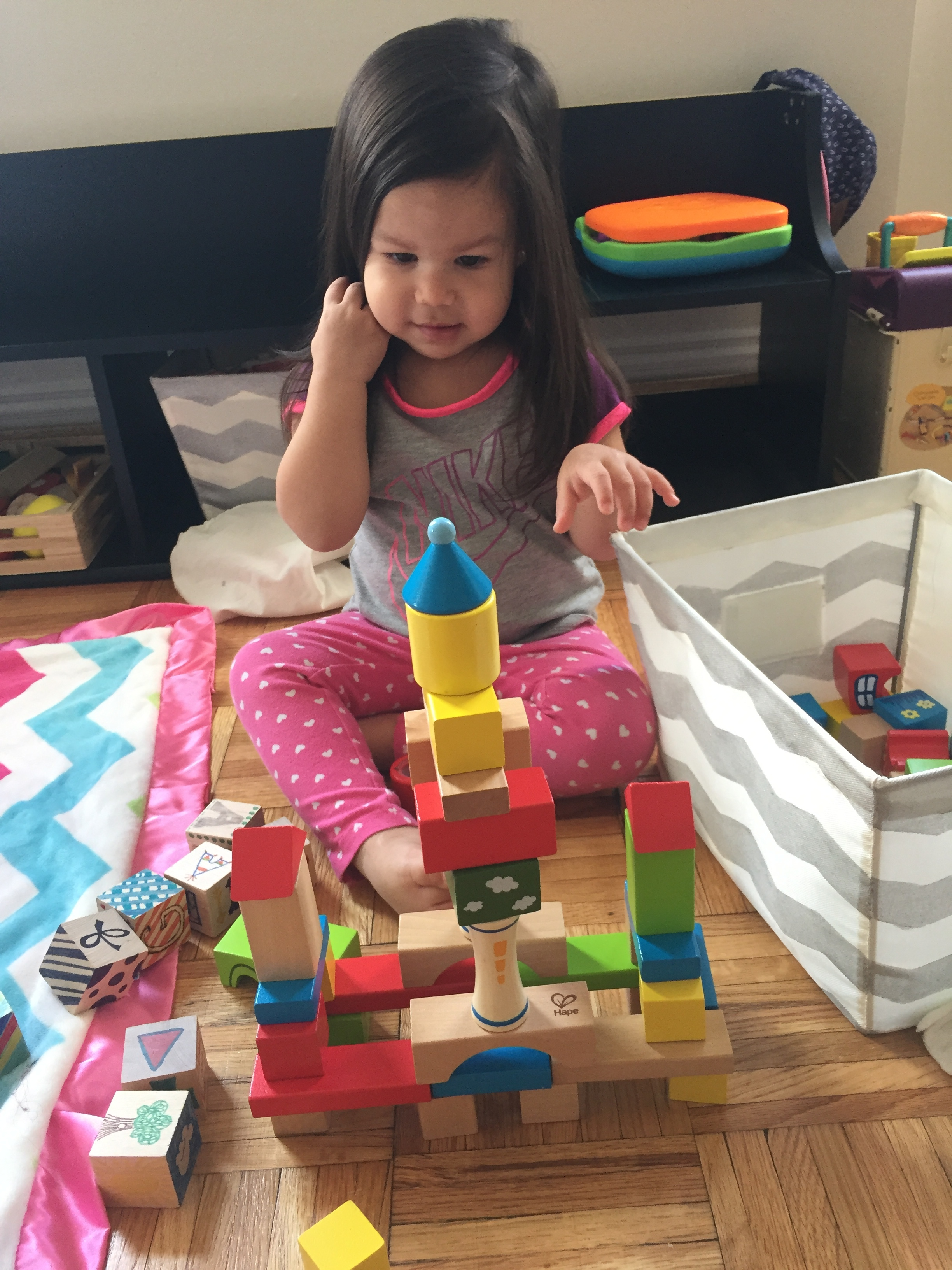 she loves building castles