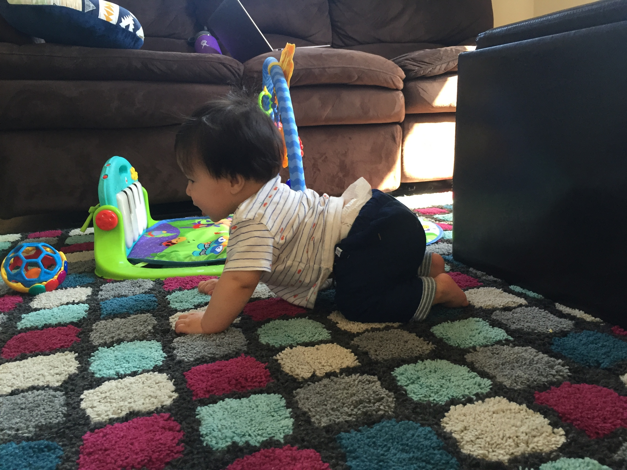 Trying to crawl!