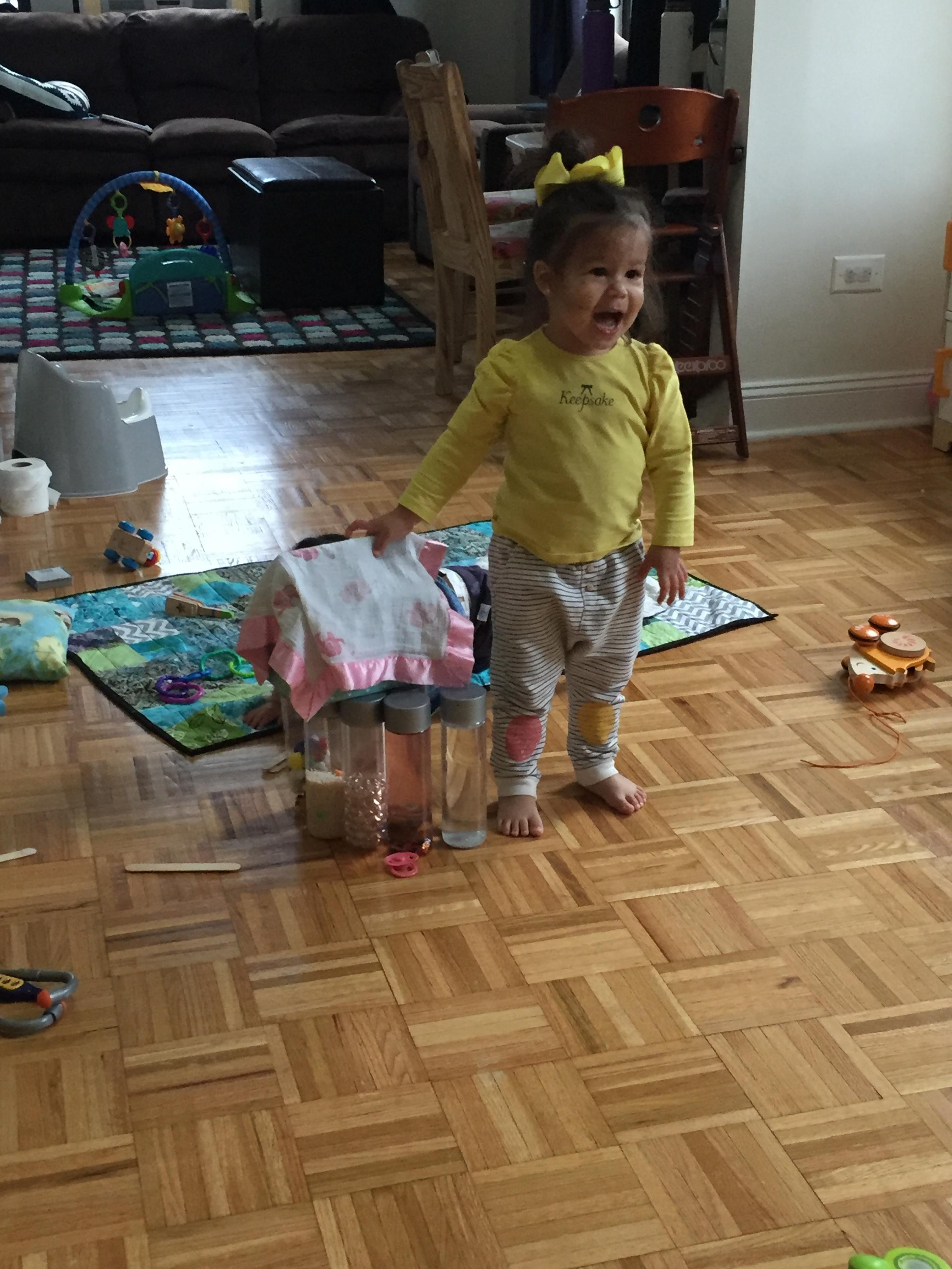 She made a mini fort!