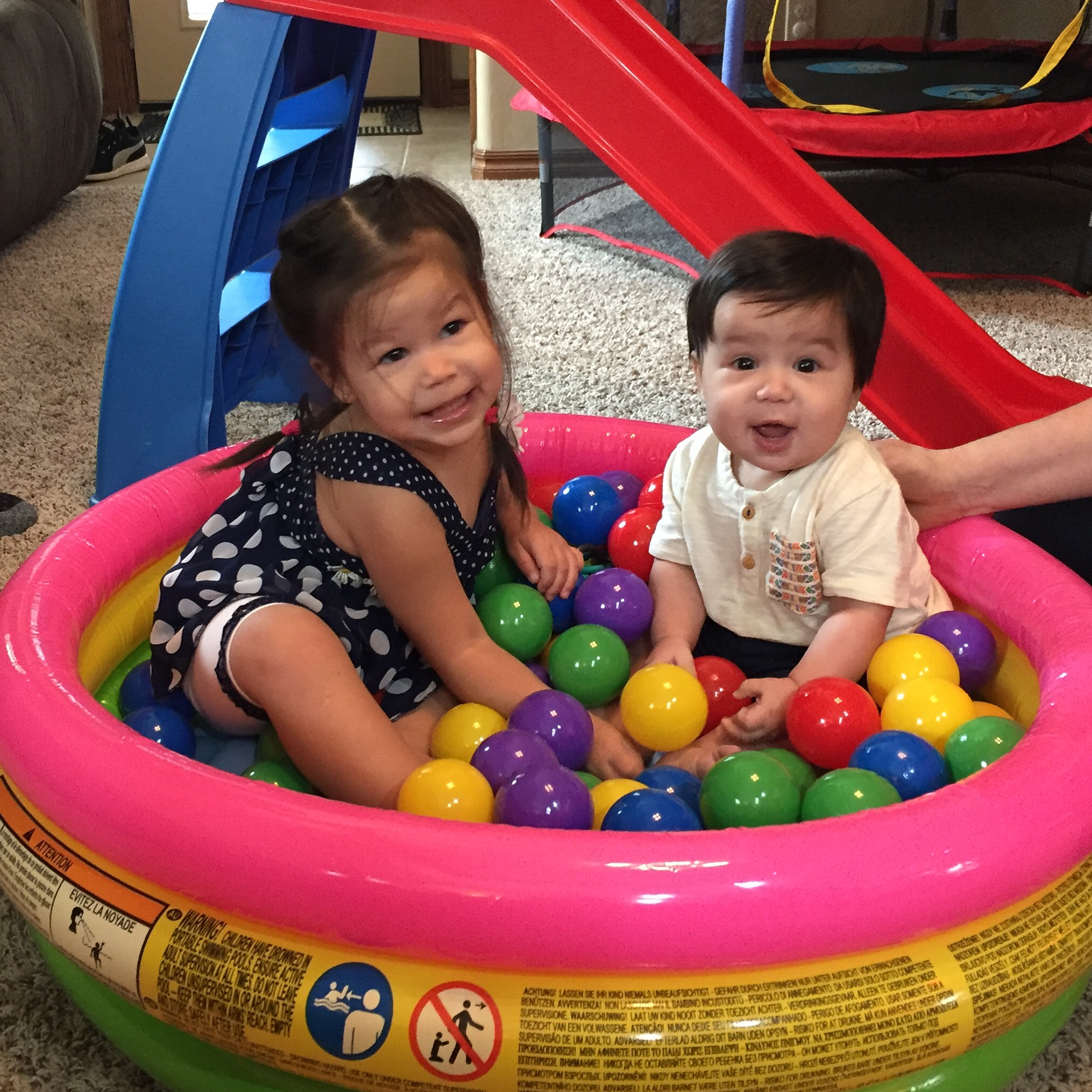 playing in the ball pit!
