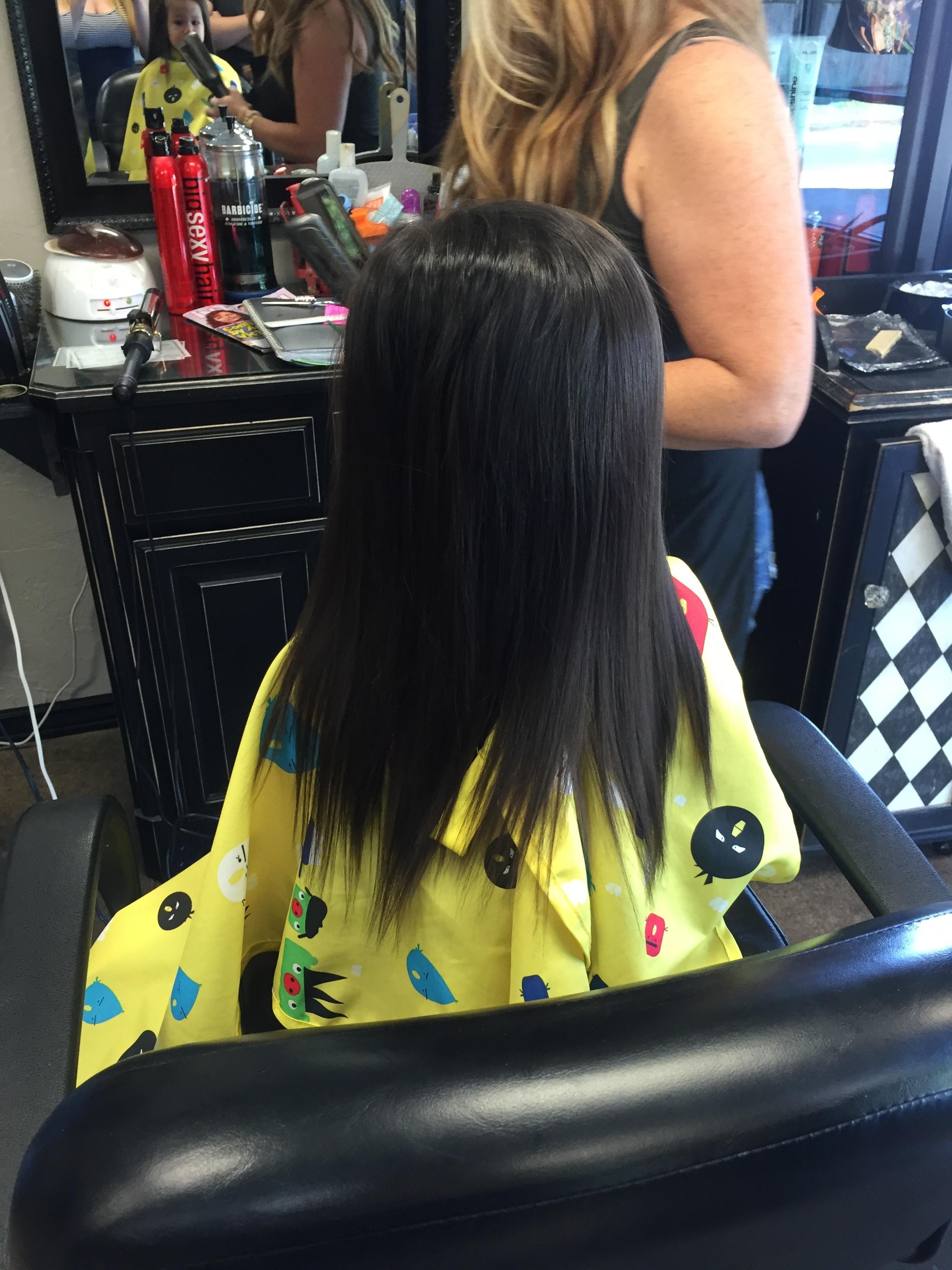 Before her first hair cut!