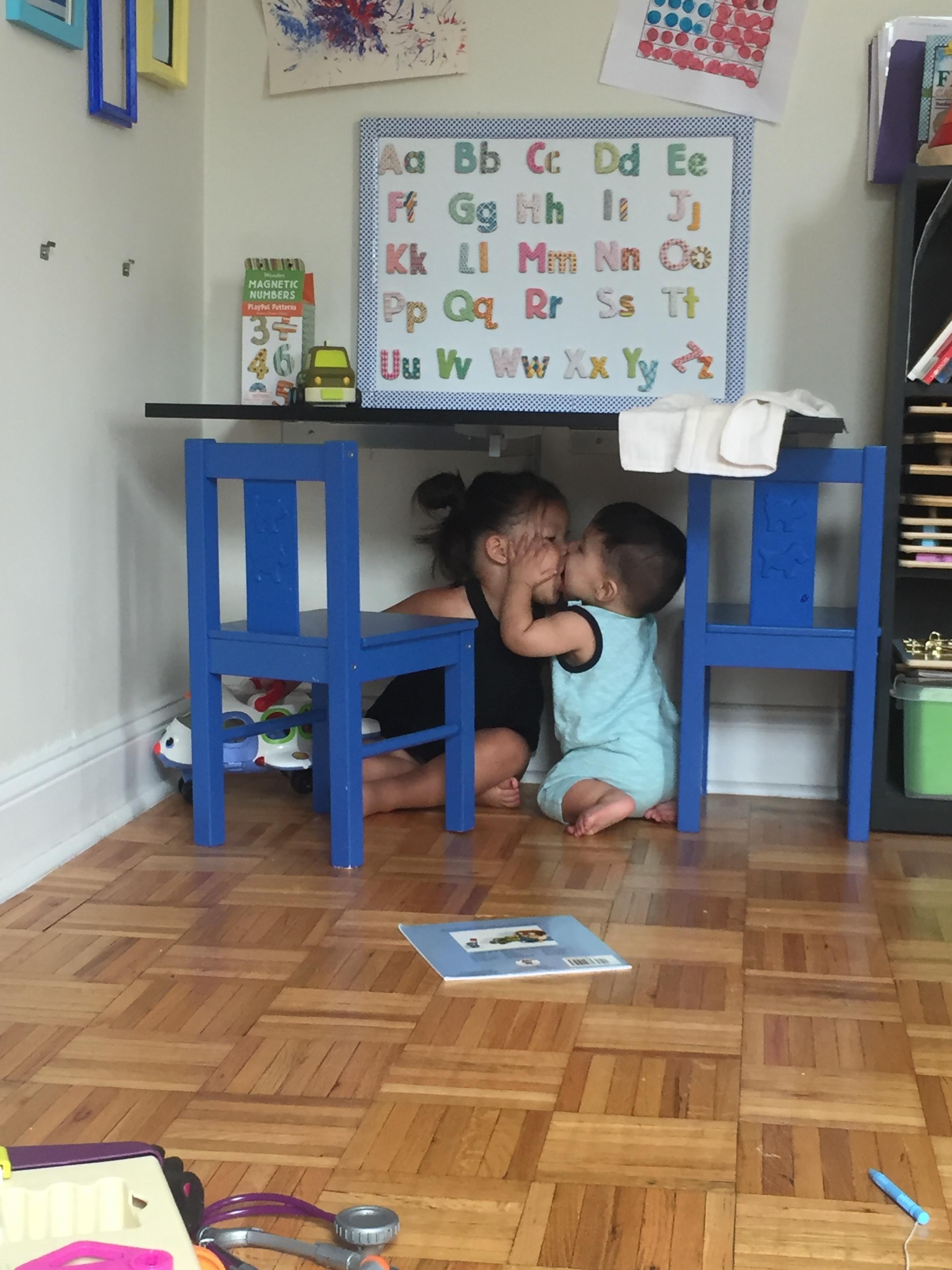 Sharing kisses!