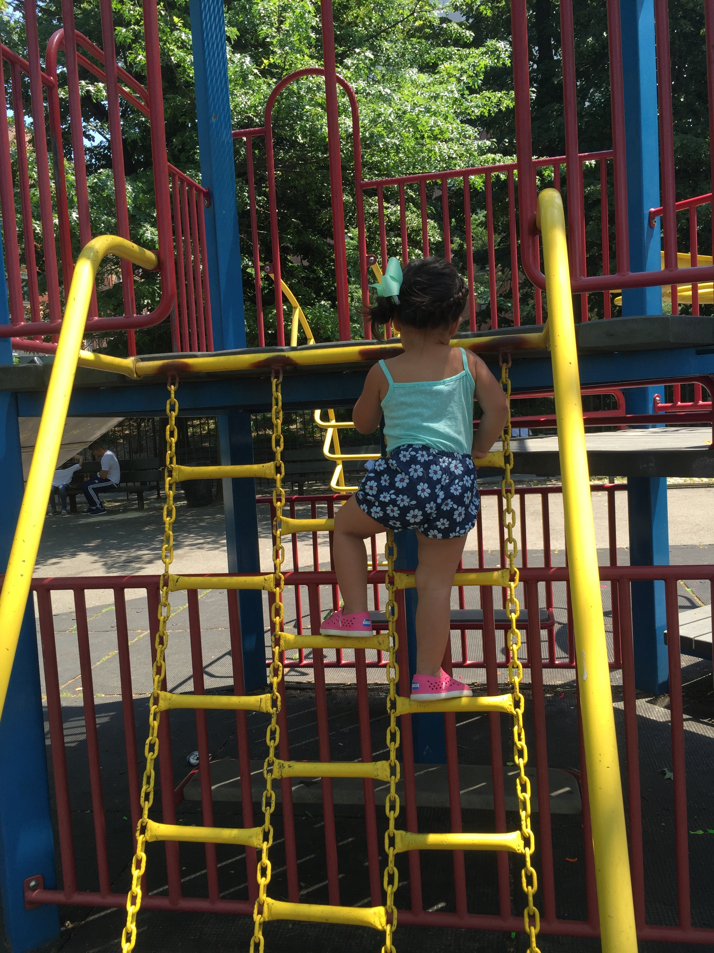 climbing at the playground
