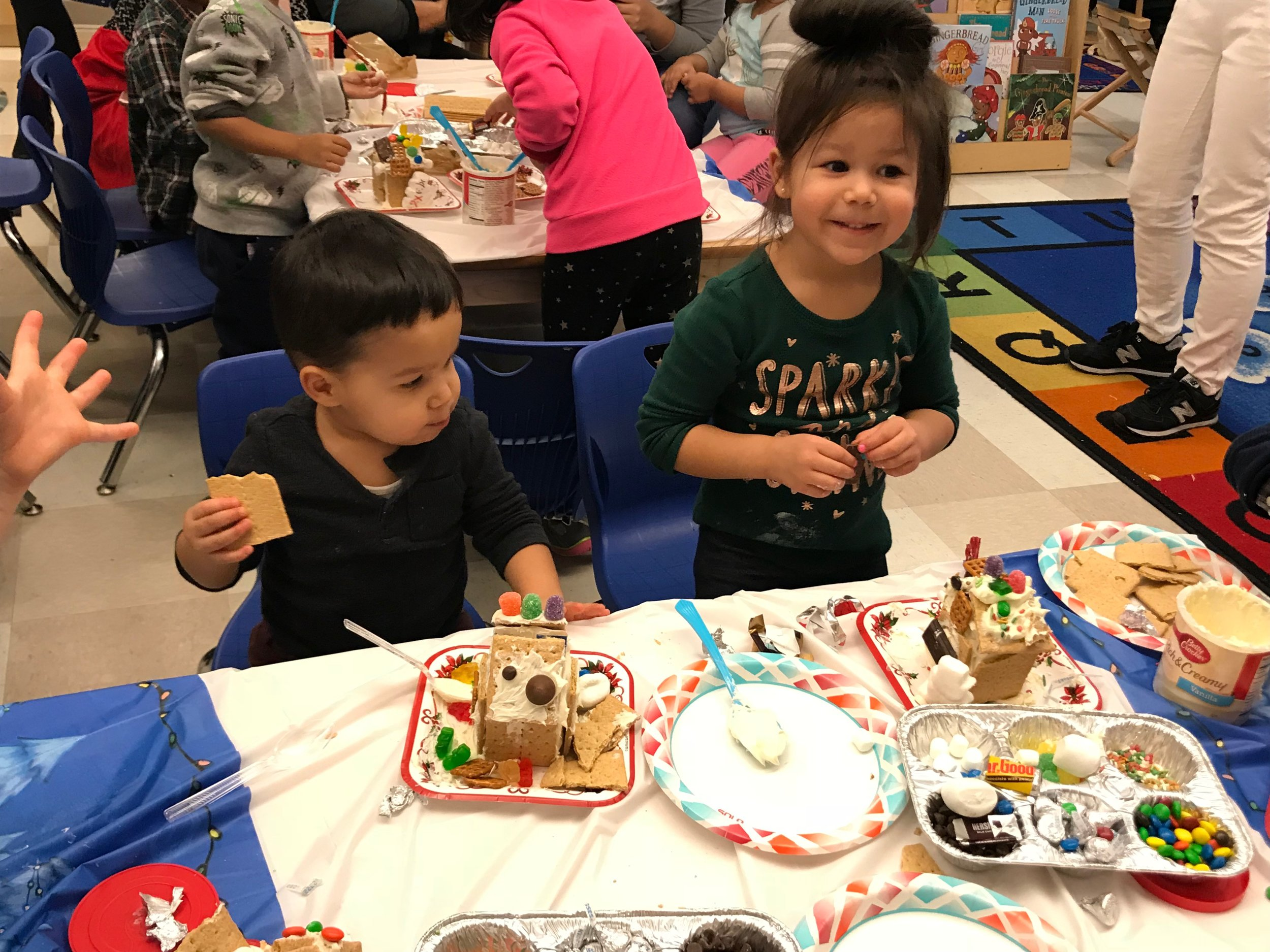 Gingerbread house making!