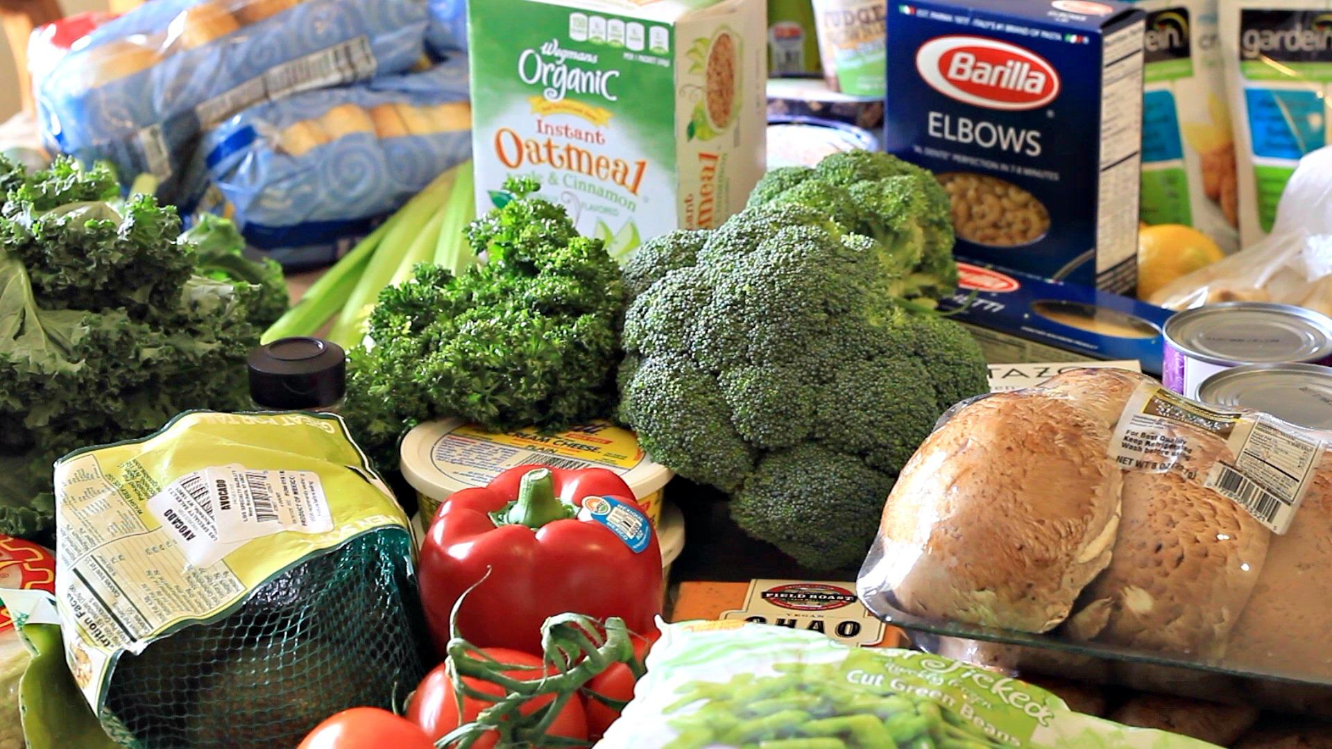 Vegan Family Grocery Haul + Free Meal Plan   April 2016