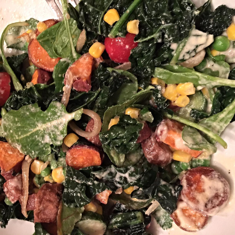 Susie's sweet kale salad!
