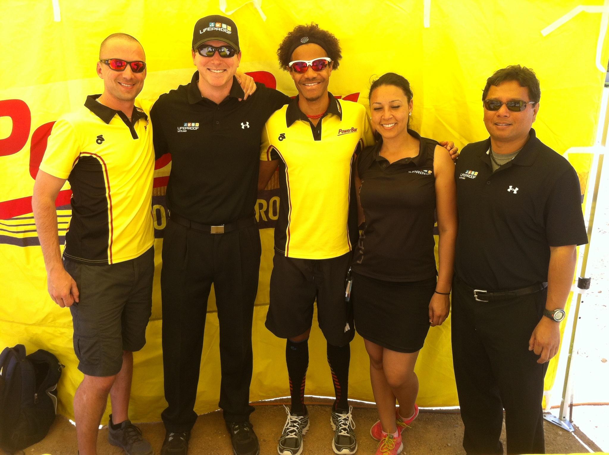 PowerBar & LifeProof crew post race