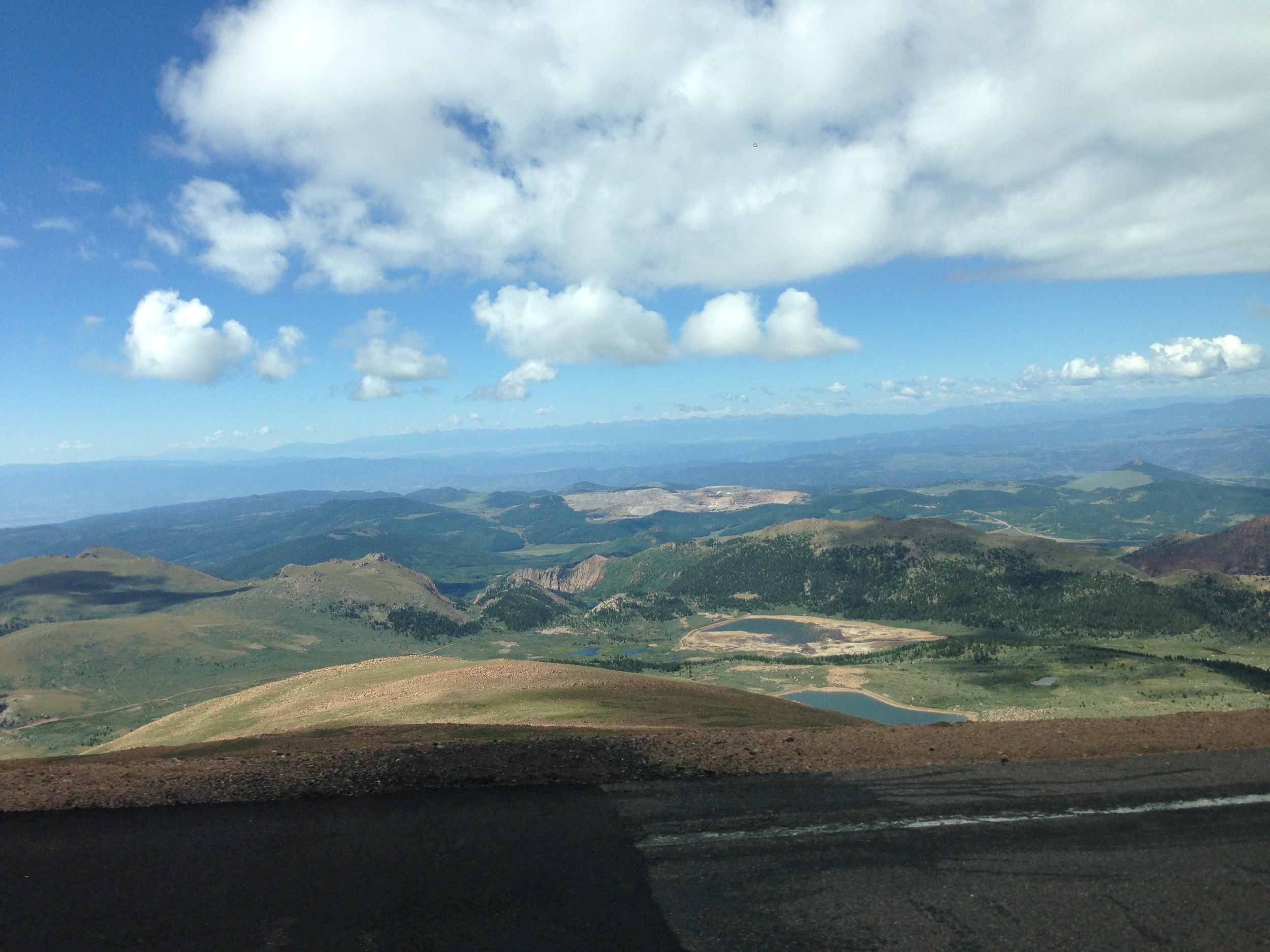 Shuttling to the top of Pikes Peak