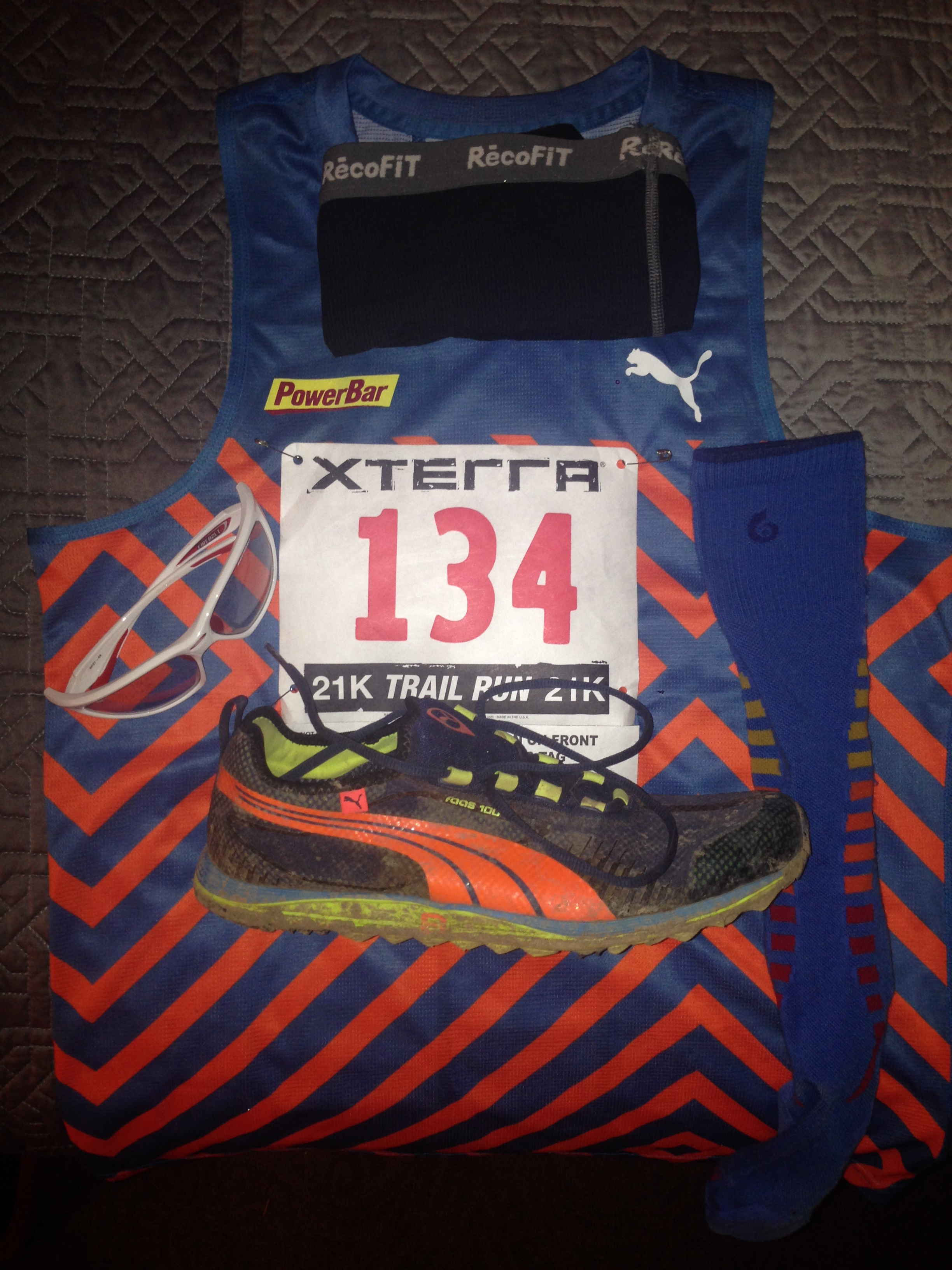 Race kit! Ready to test out my shoes:  PUMA FAAS 100 TR