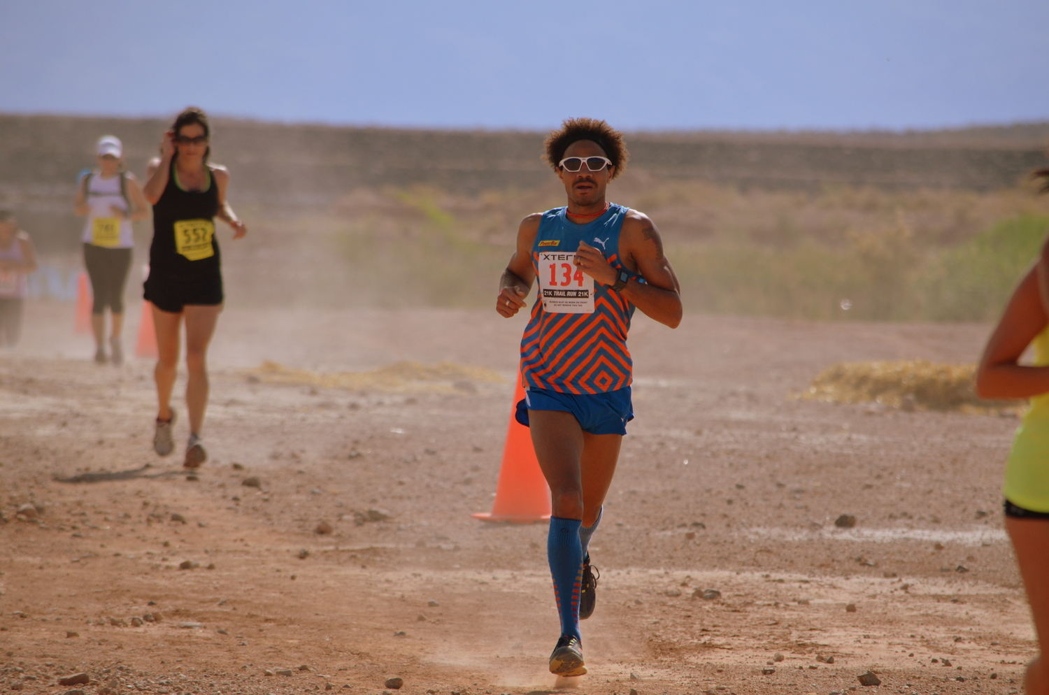 Working my way through lapped runners and/or 5K/10K competitors