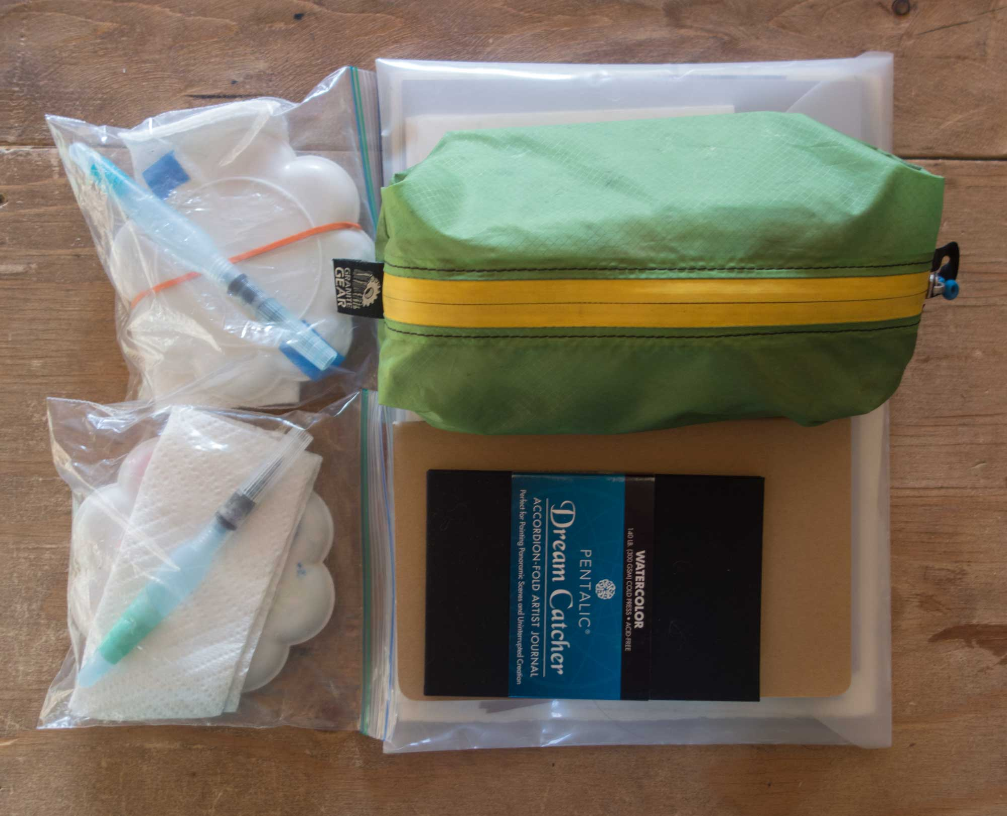 Here are all my supplies ready to go. Did I follow my advice and limit myself? Maybe a little. I tried!