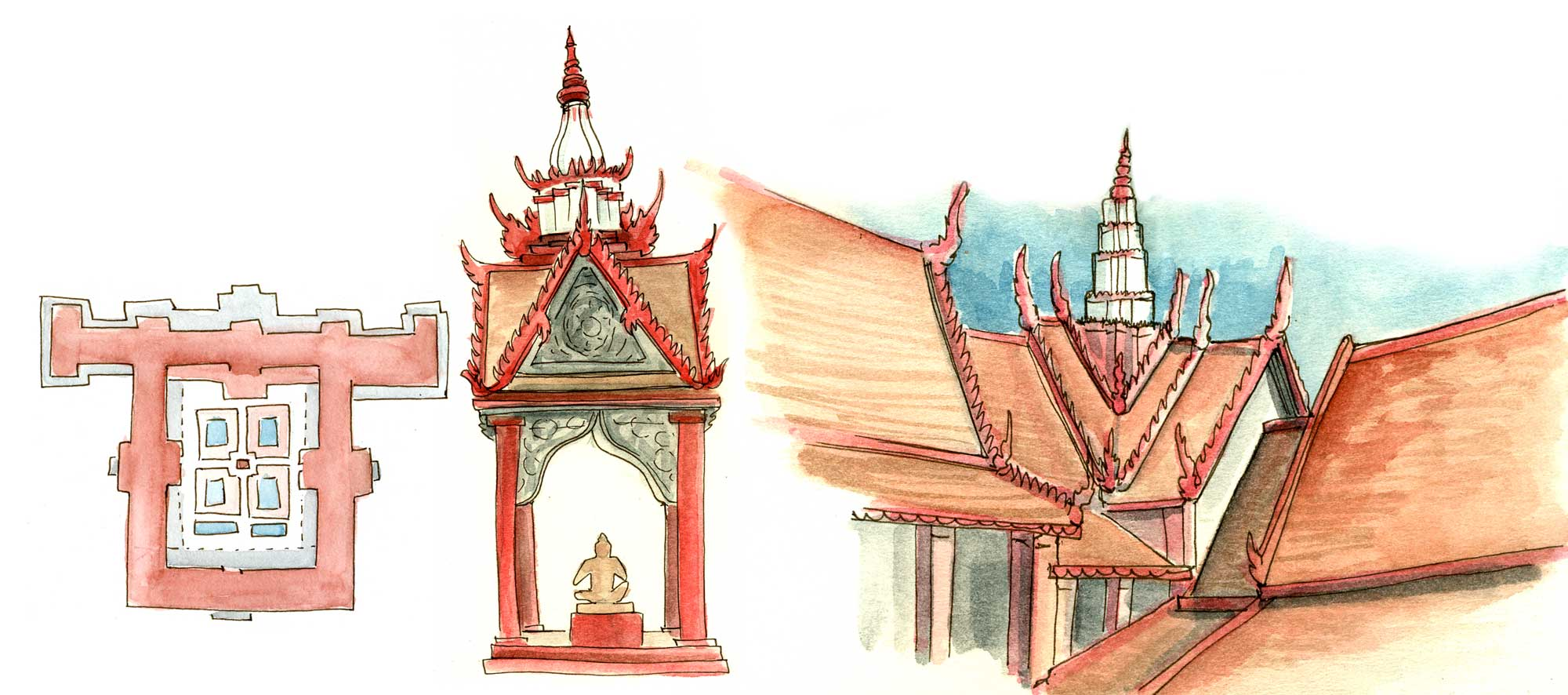 Architecture studies from the National Museum
