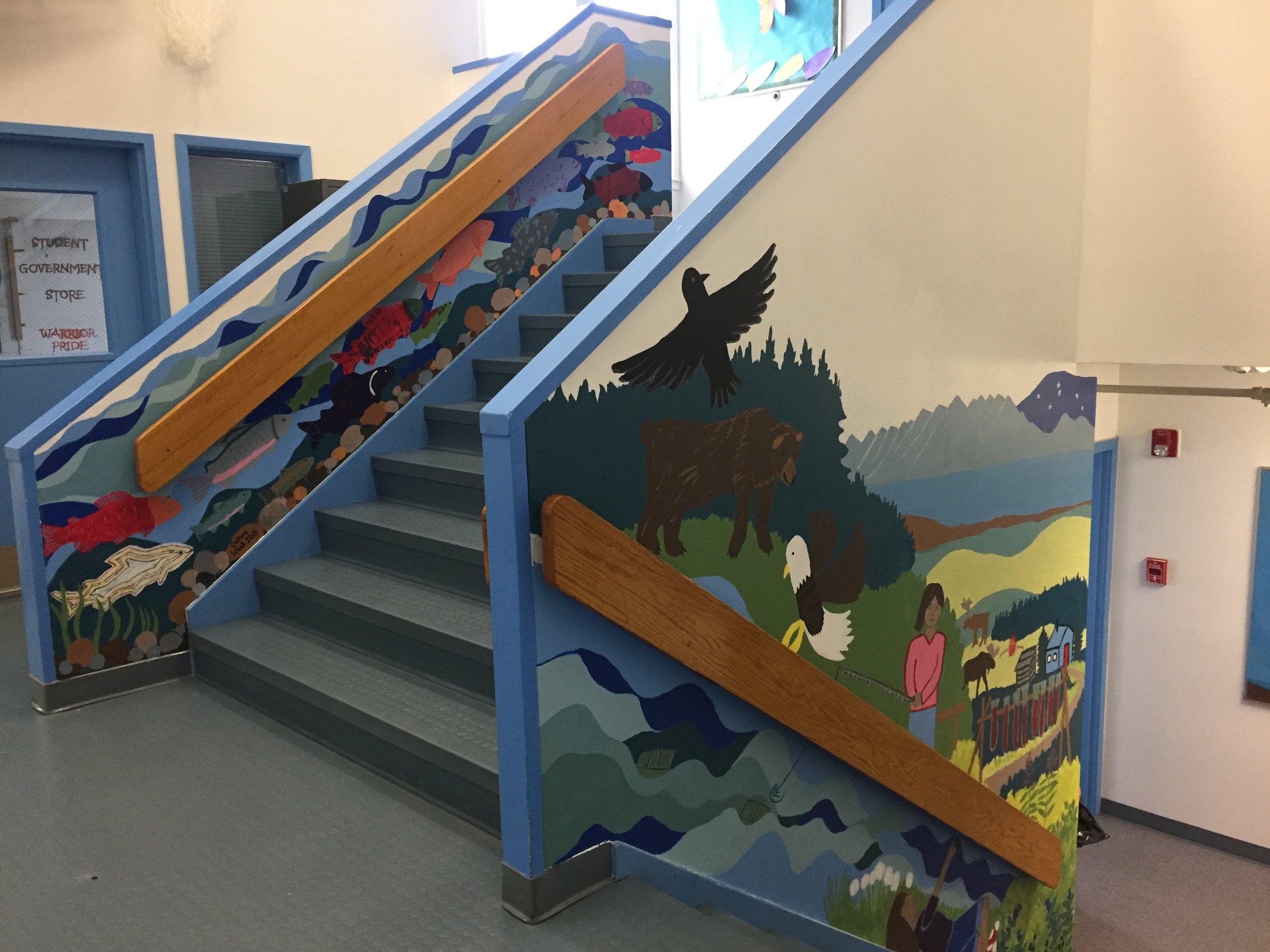 Part of the Nondalton School mural