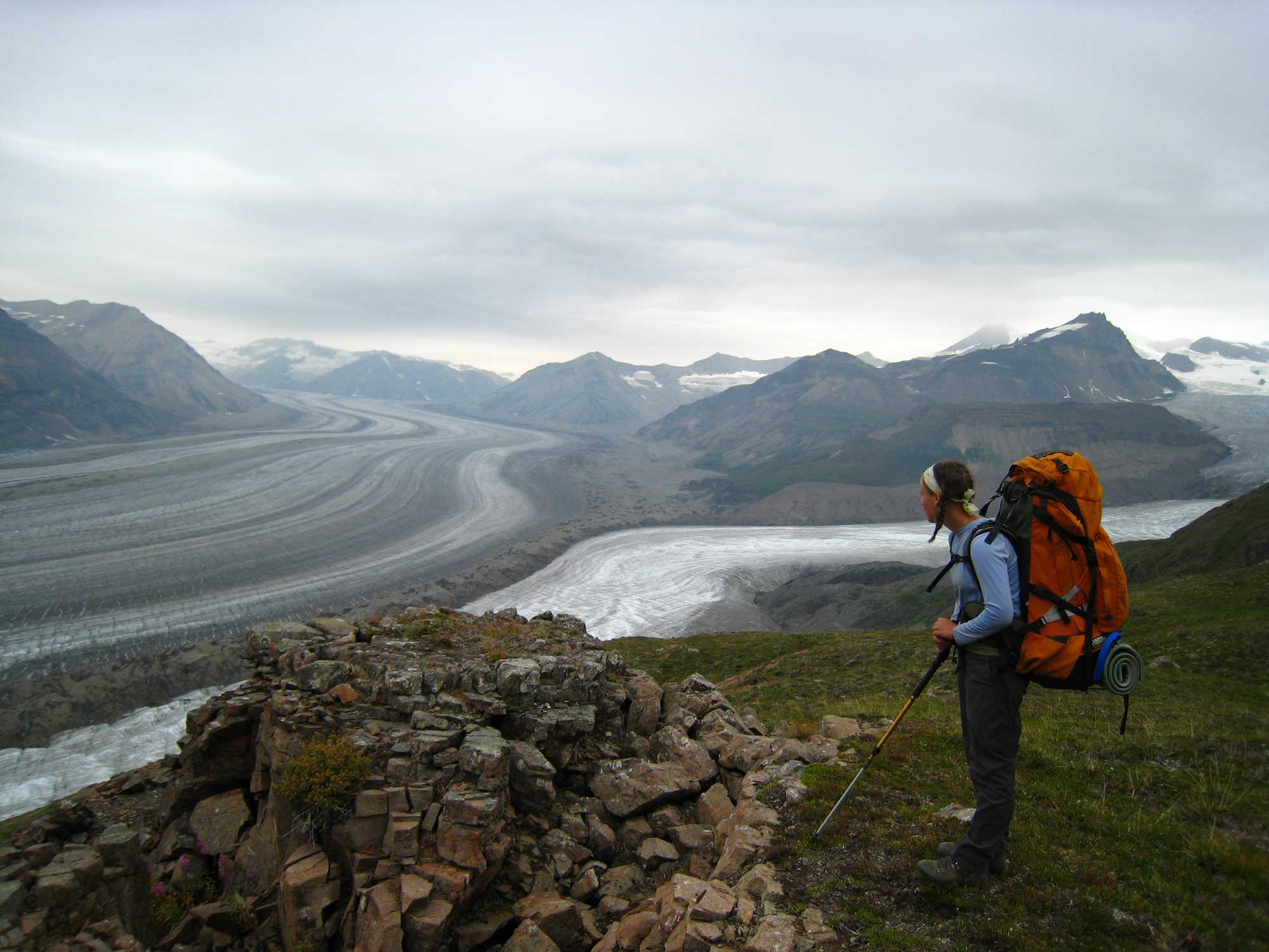 Backpacking in the Wrangells. Photo by Greg Runyan