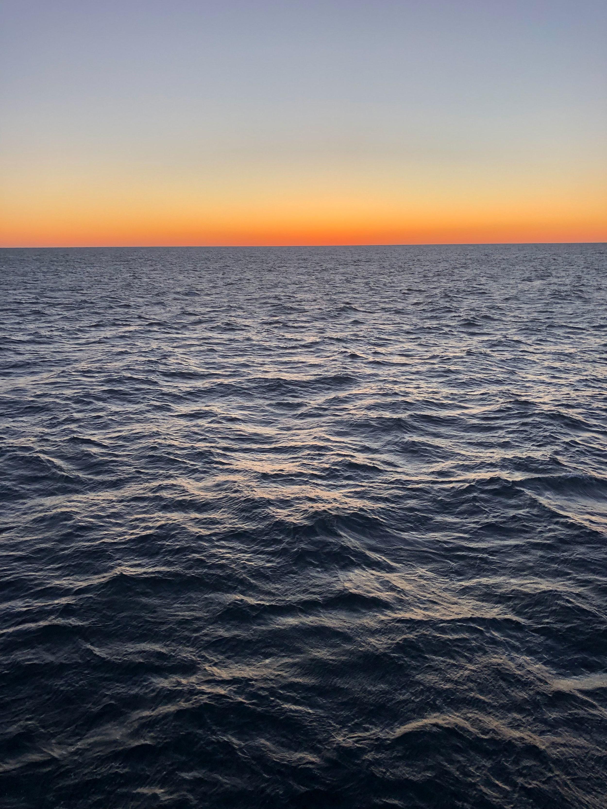 The open ocean!