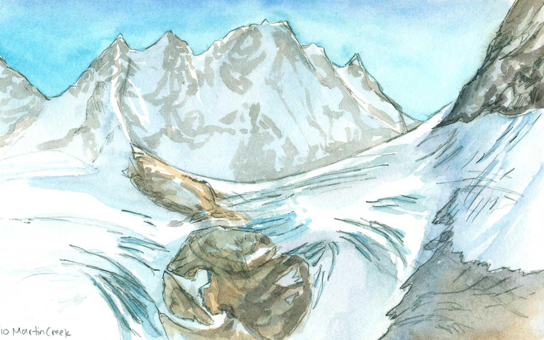Upper Martin Creek Glacier