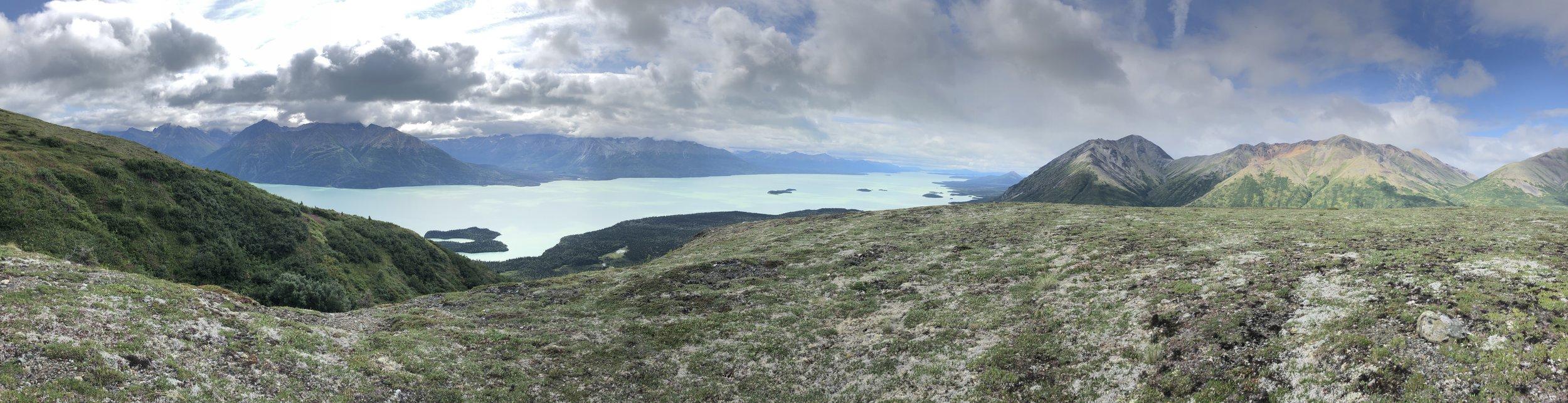 Enjoying the alpine above Lake Clark