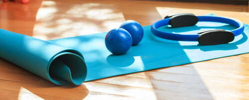 Rather than lounging around all holiday, why don't you try a Pilates or Yoga class? Image from Flickr user Giena.IT.