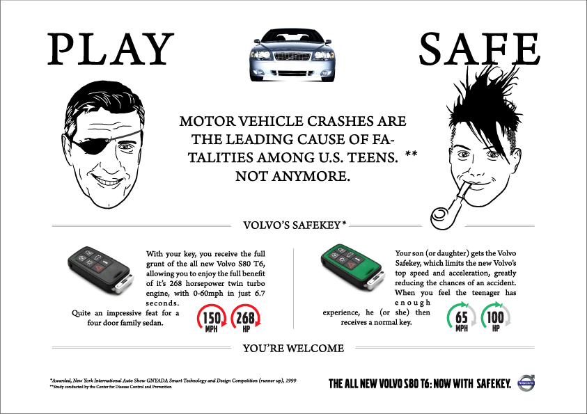 A print ad that for the Safekey (click to view larger).