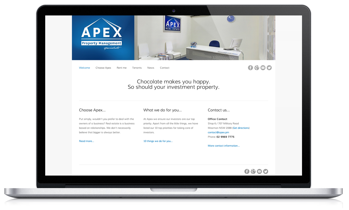 Our new website. Isn't it awesome?
