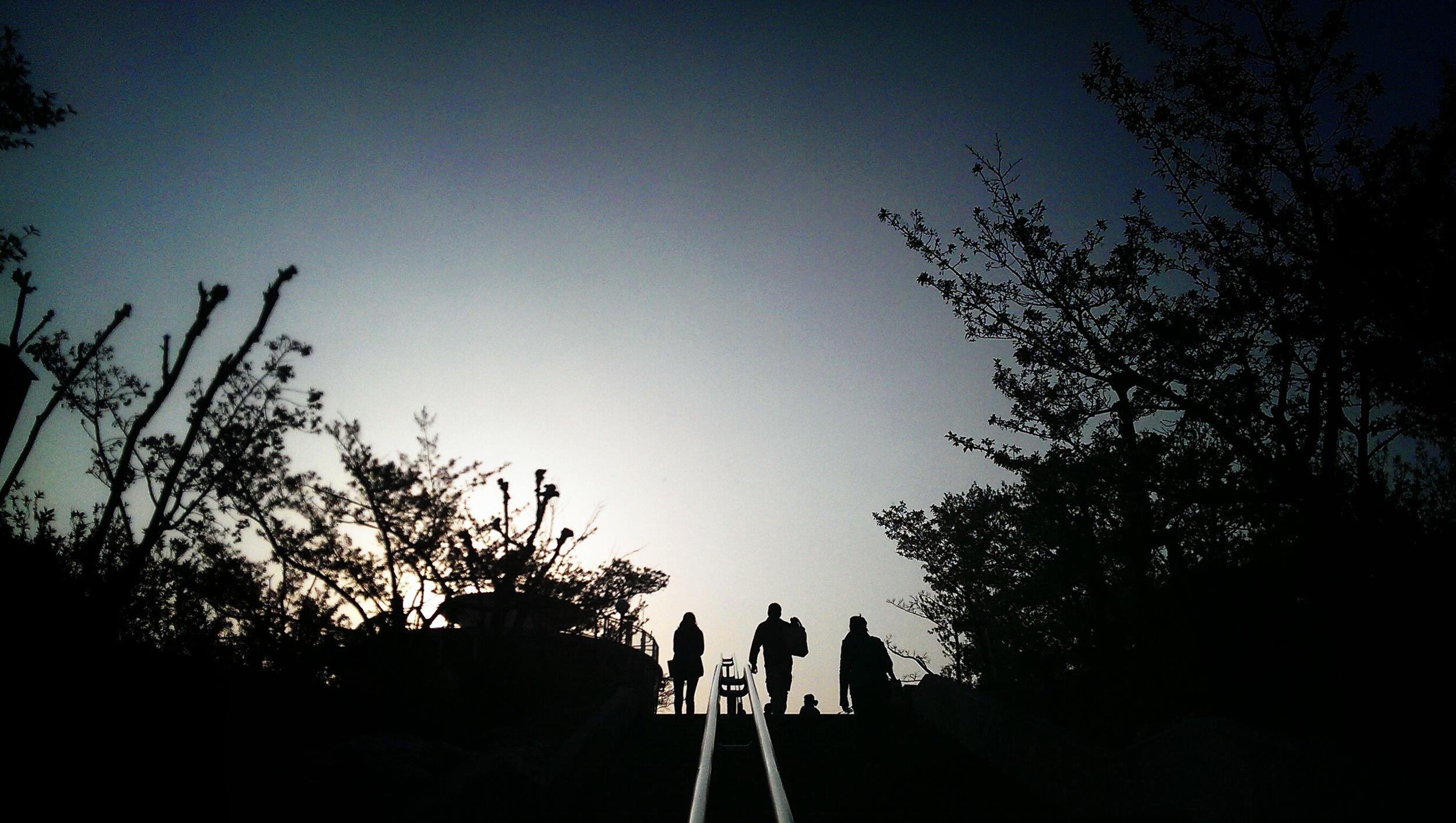 Reaching the summit of Mt Senkoji in Onomichi City, part of Hiroshima Prefecture, Japan.