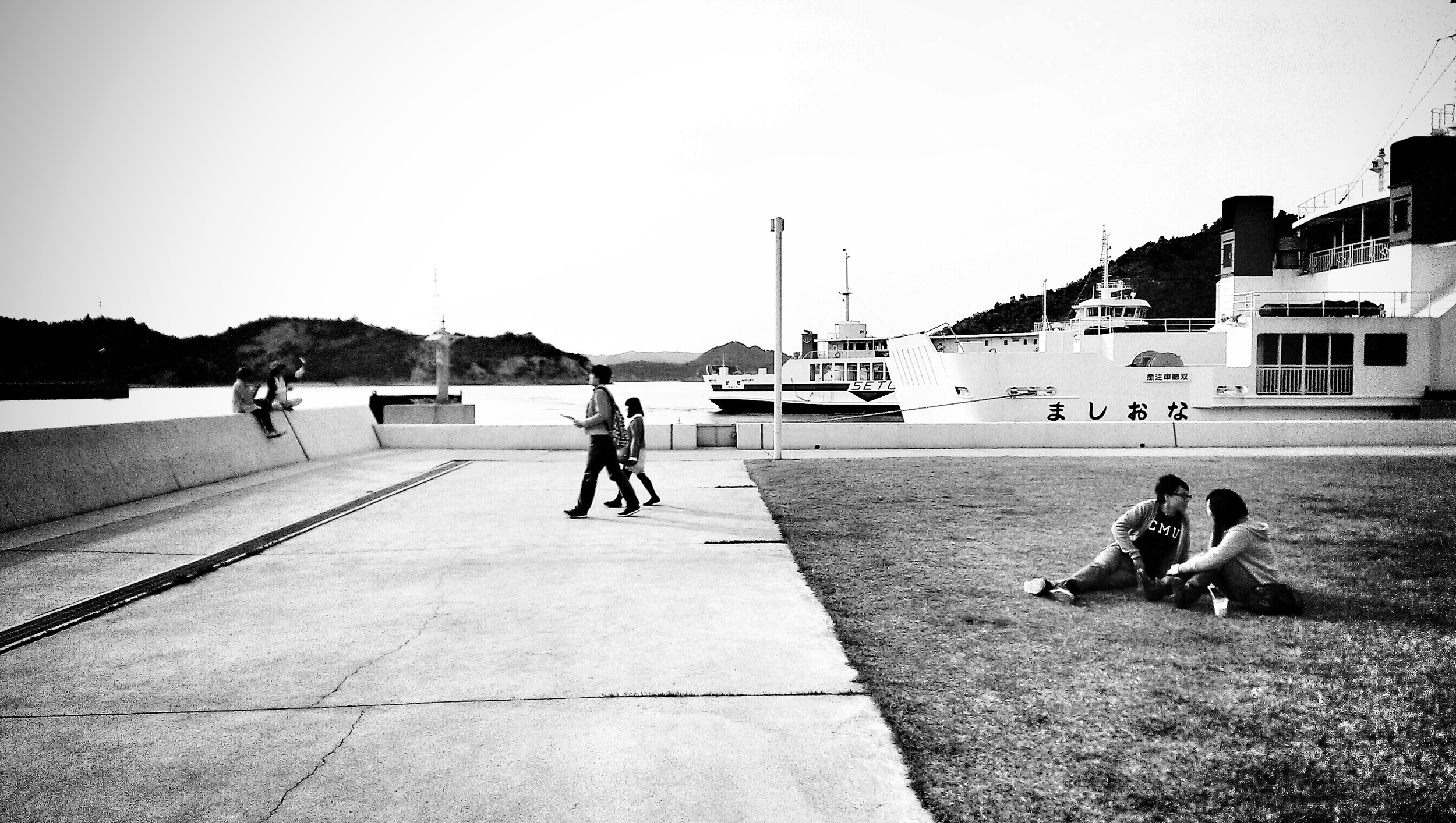 Waiting for the ferry at Naoshima.