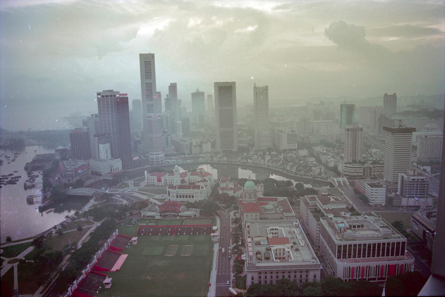 The Singapore skyline as seen from the (then) Westin Stamford in 1990. (Photo by Darren Soh)